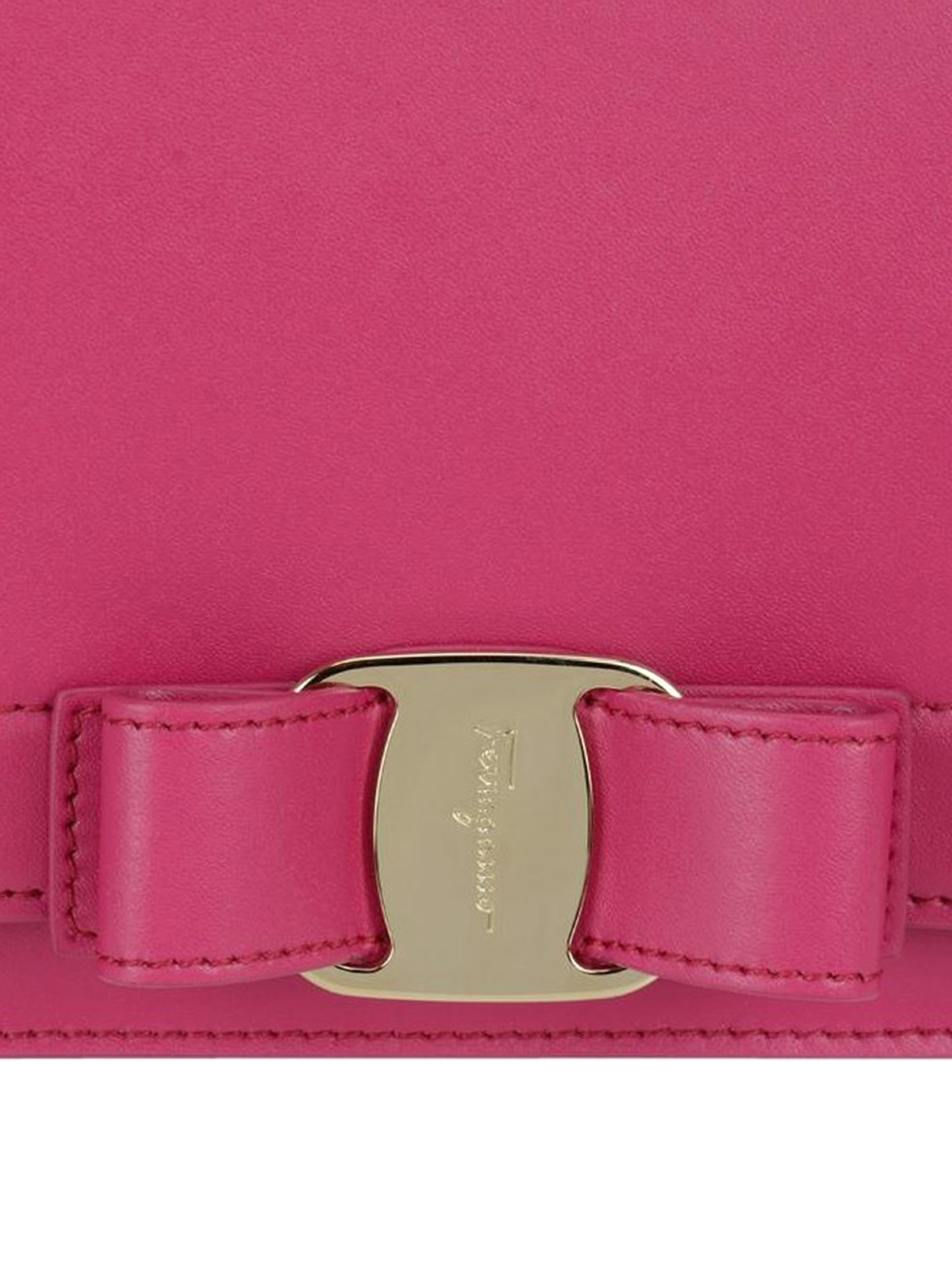 Salvatore Ferragamo Rainbow Vara fuchsia small bag