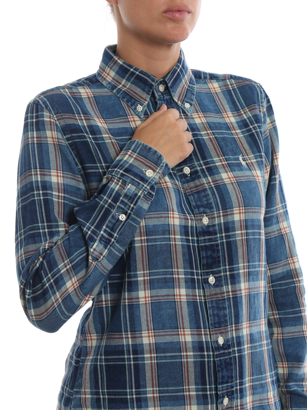 19d6e48a2a5d ... 50% off ralph lauren buy online chequered cotton button down classic  shirt 38c03 b65be