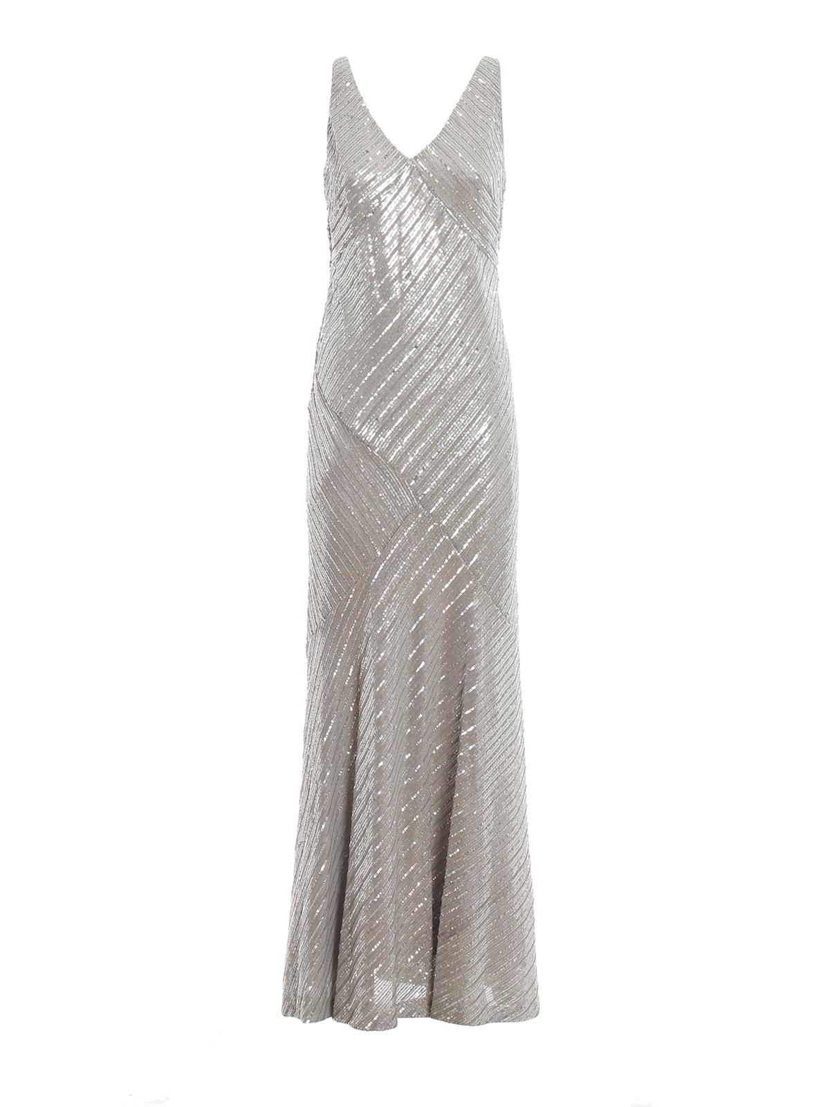 Ralph Lauren Abendkleid Silber Abendkleider 253737300002
