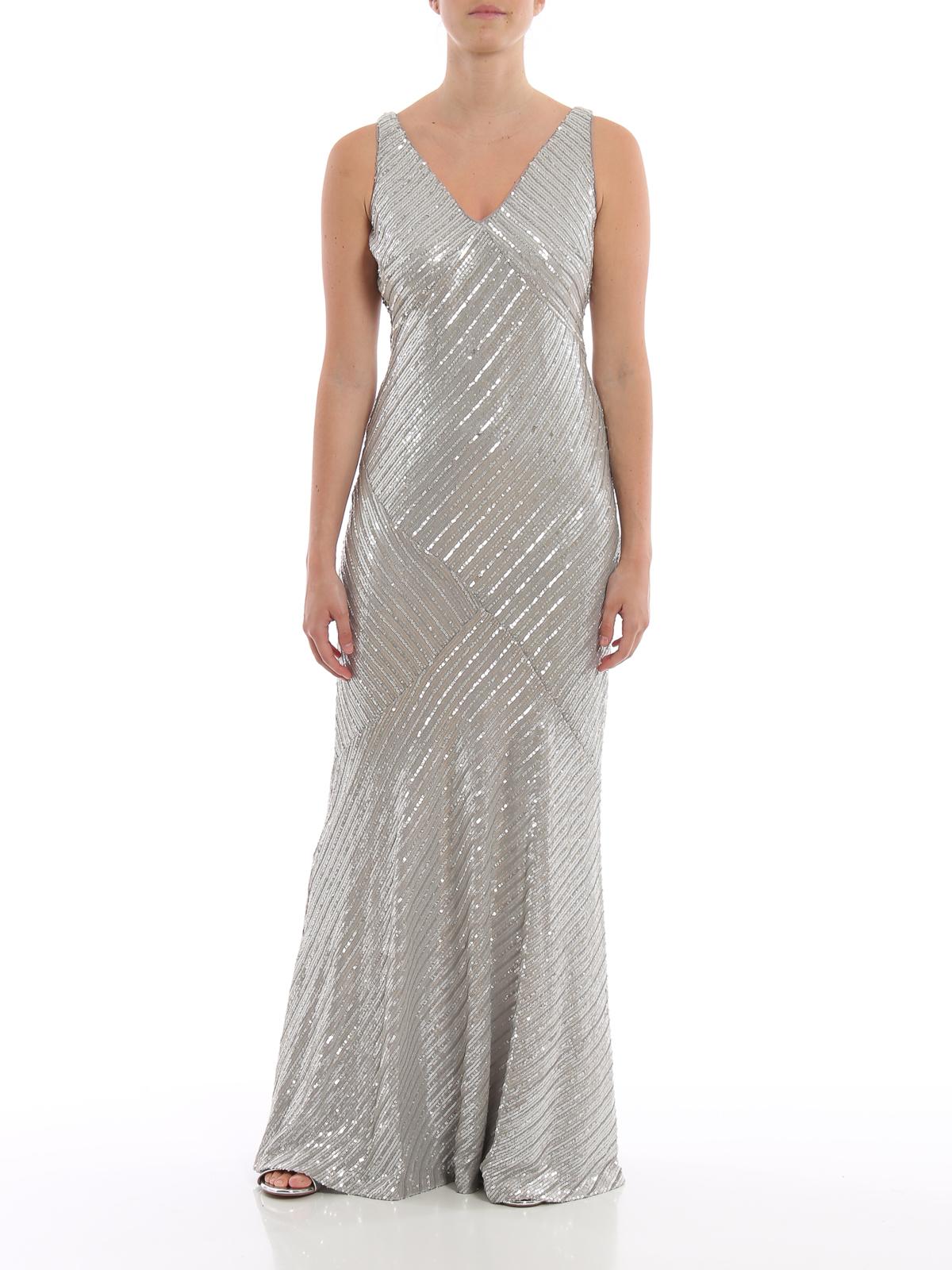 Ralph Lauren - Abendkleid - Silber - Abendkleider - 15