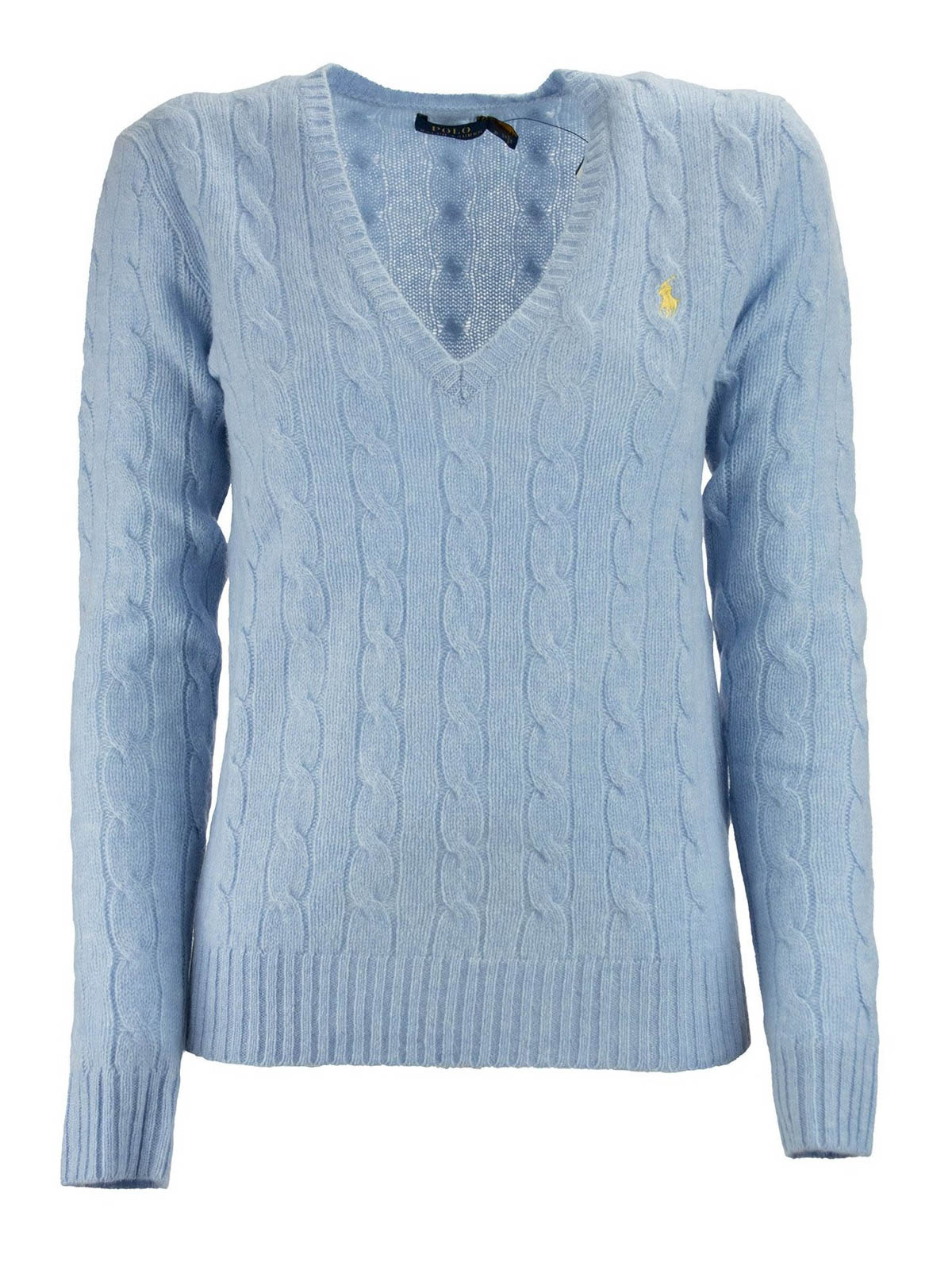 Ralph Lauren LOGO EMBROIDERY V-NECK SWEATER