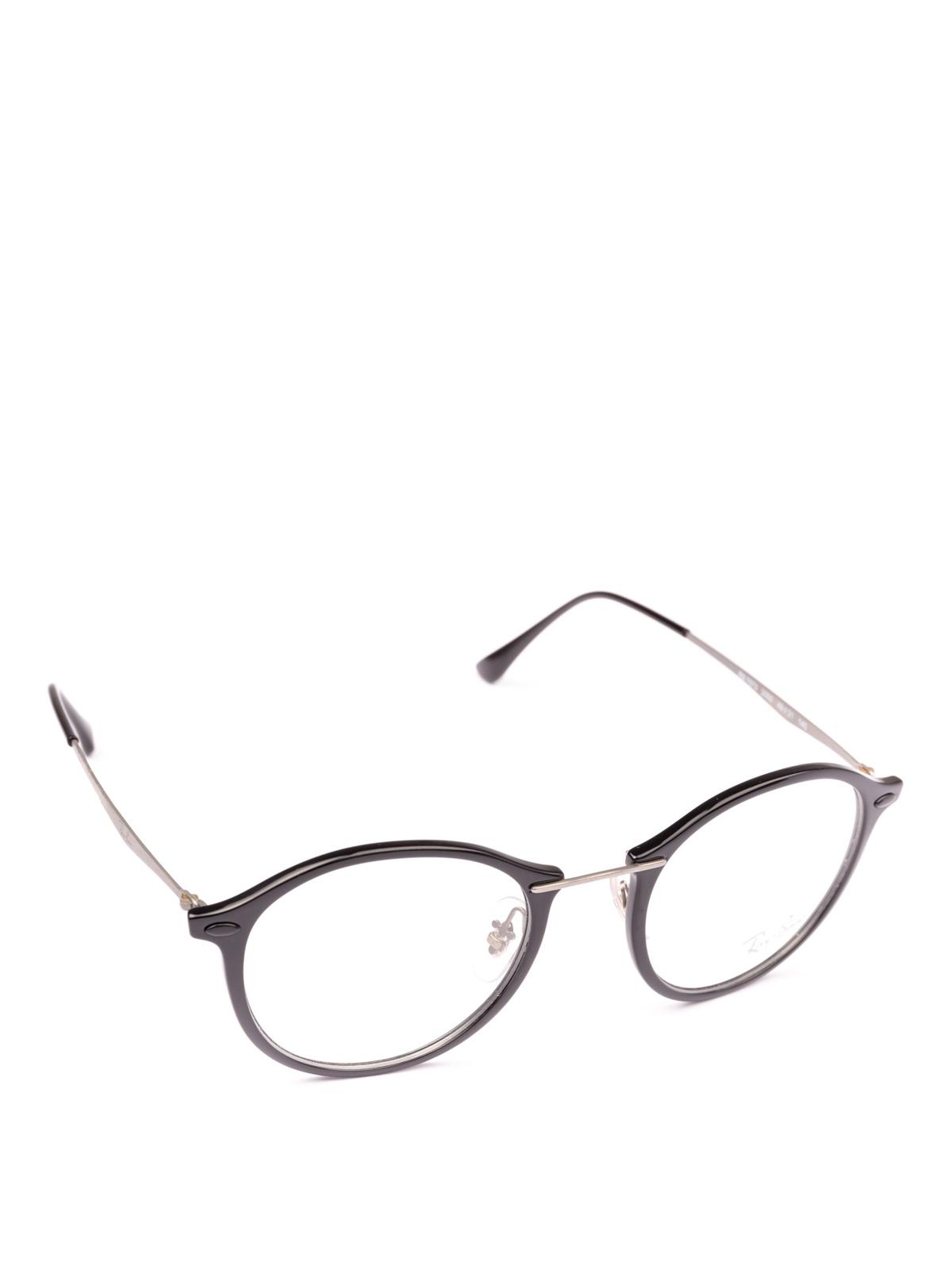 5d4d835cfc Ray Ban - Black acetate and metal circle glasses - glasses - RB7073 2000