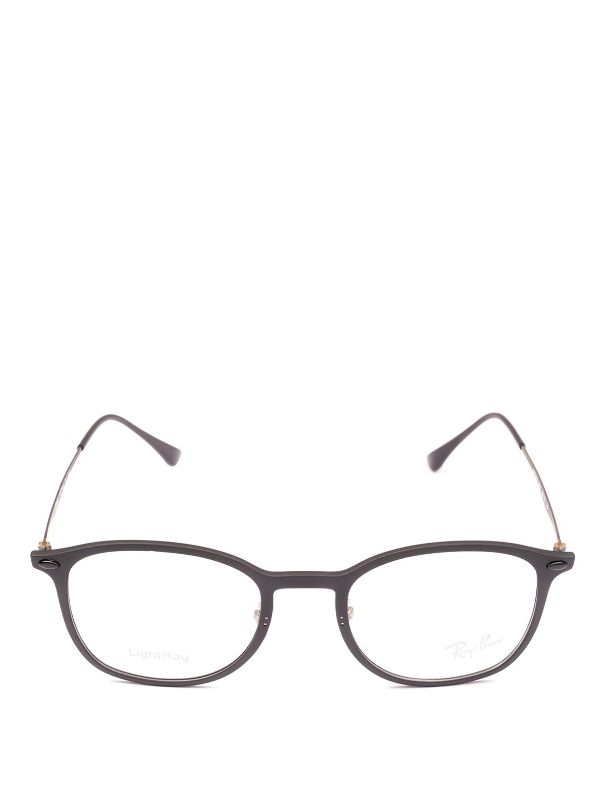 ac3cd3d34e Ray Ban - Black acetate frame squared glasses - glasses - RB7051 2077