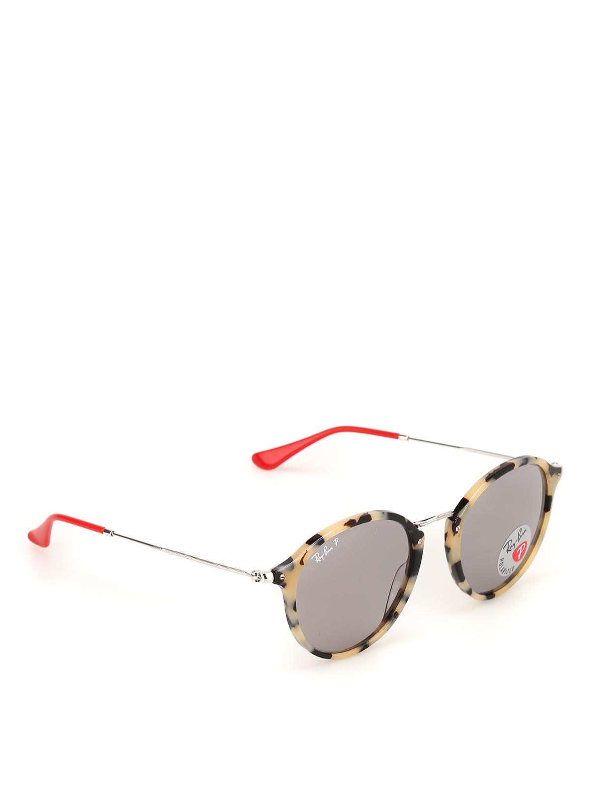 Ray Ban Occhiali da sole rotondi tartarugati occhiali da