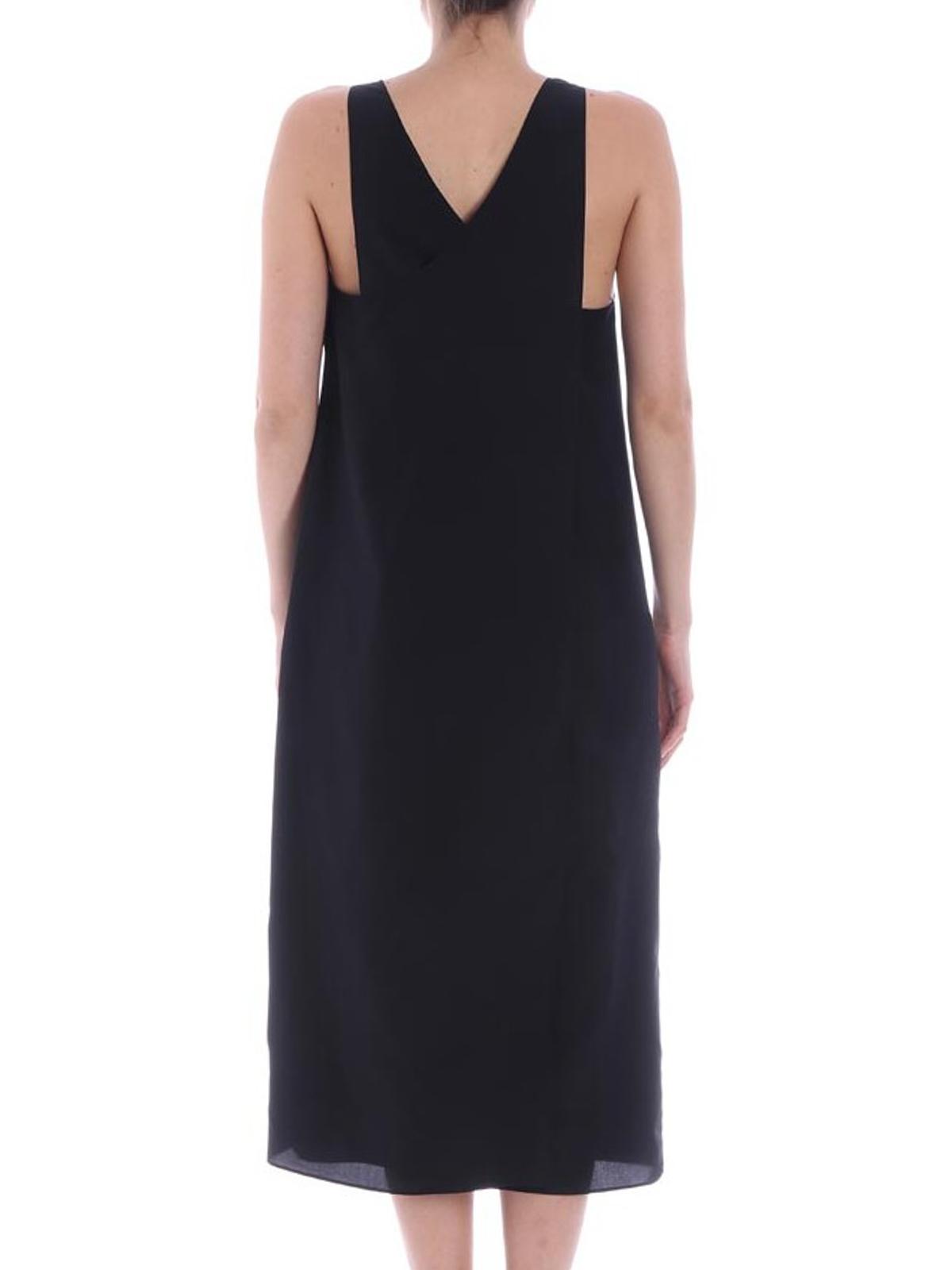 Black V-neck dress Aspesi sBqGCro