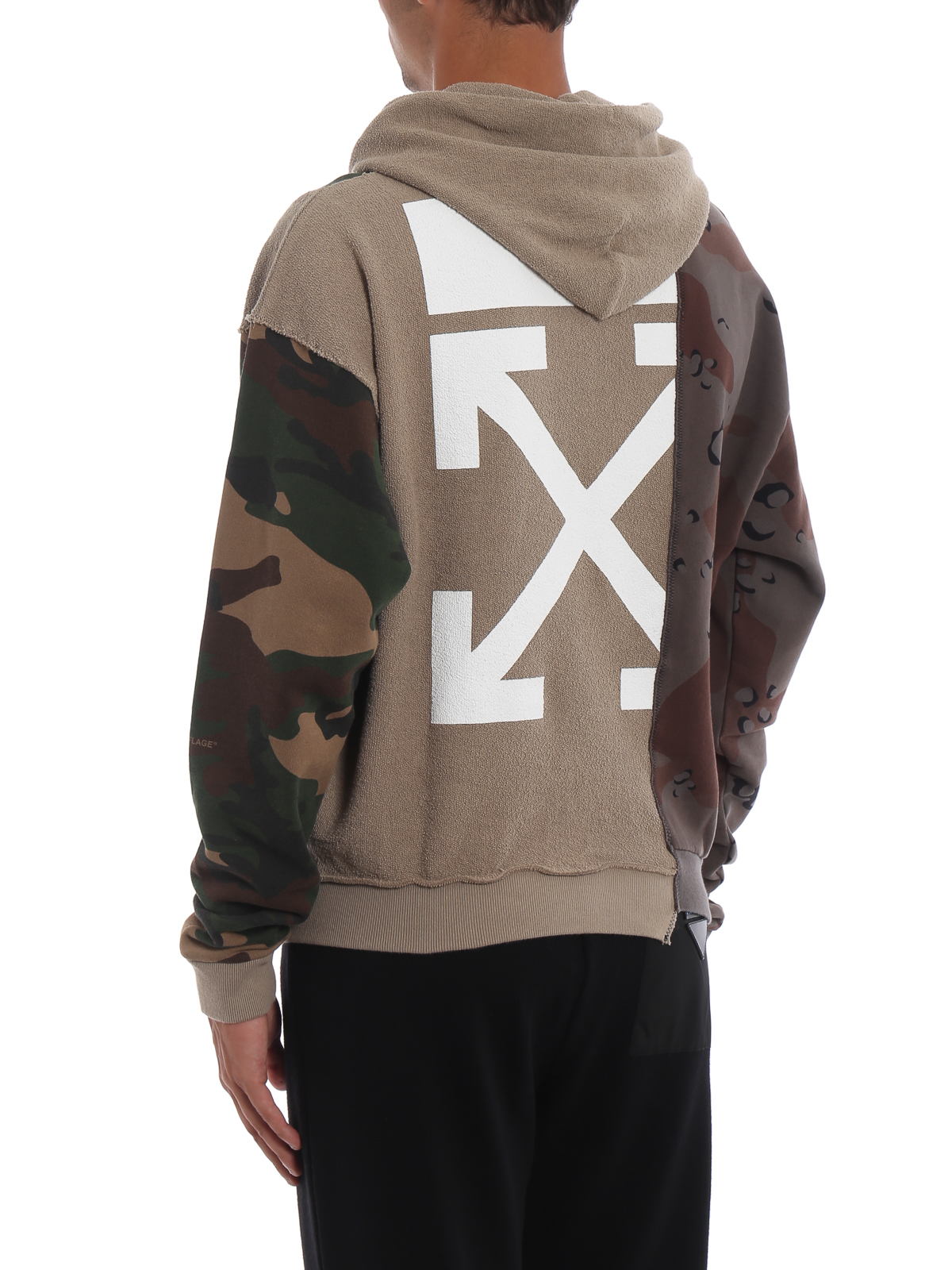 670302a12dfd Off-White - Reconstructed Camo hoodie - Sweatshirts   Sweaters ...