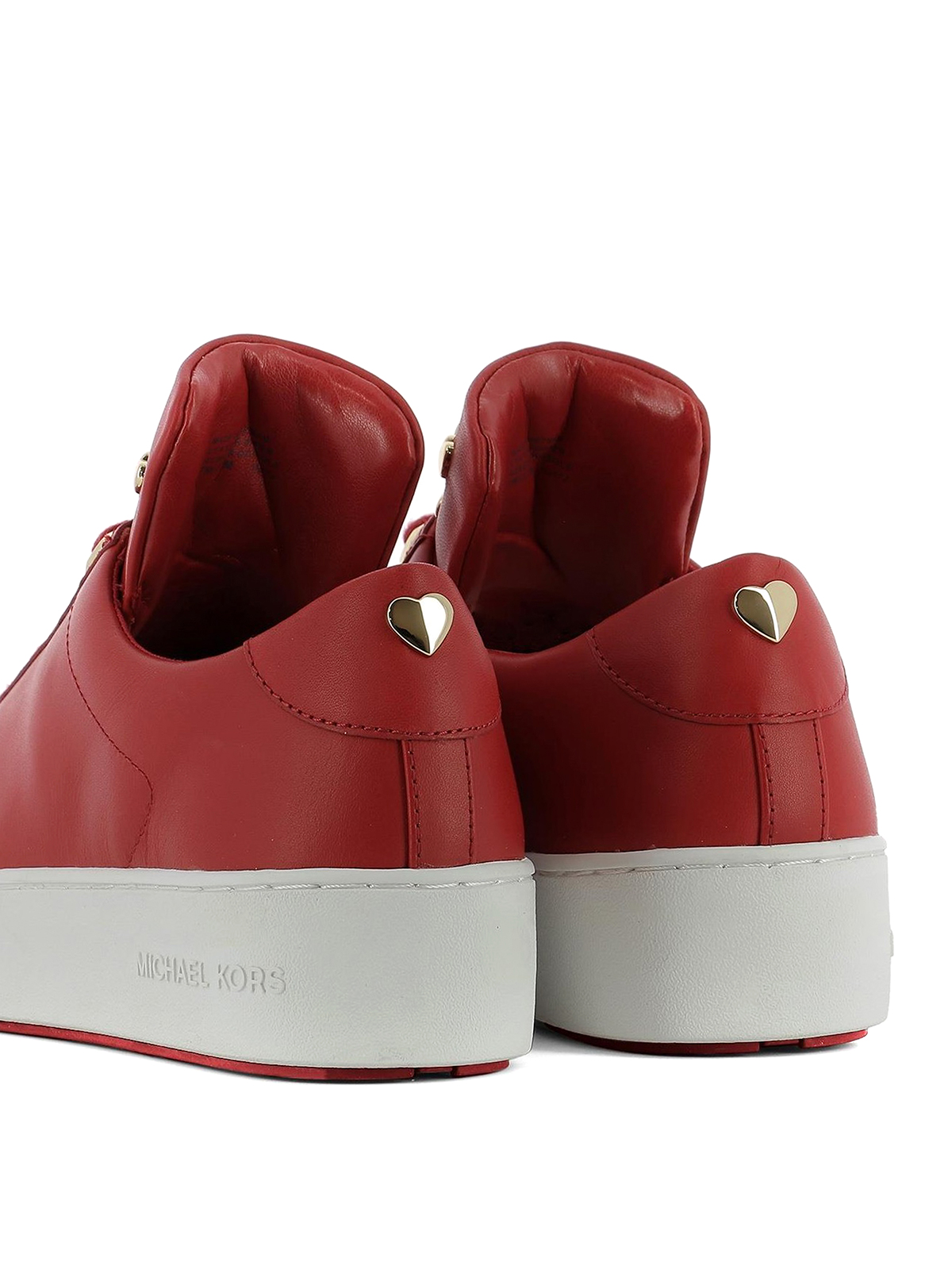 Michael Kors - Red leather sneakers