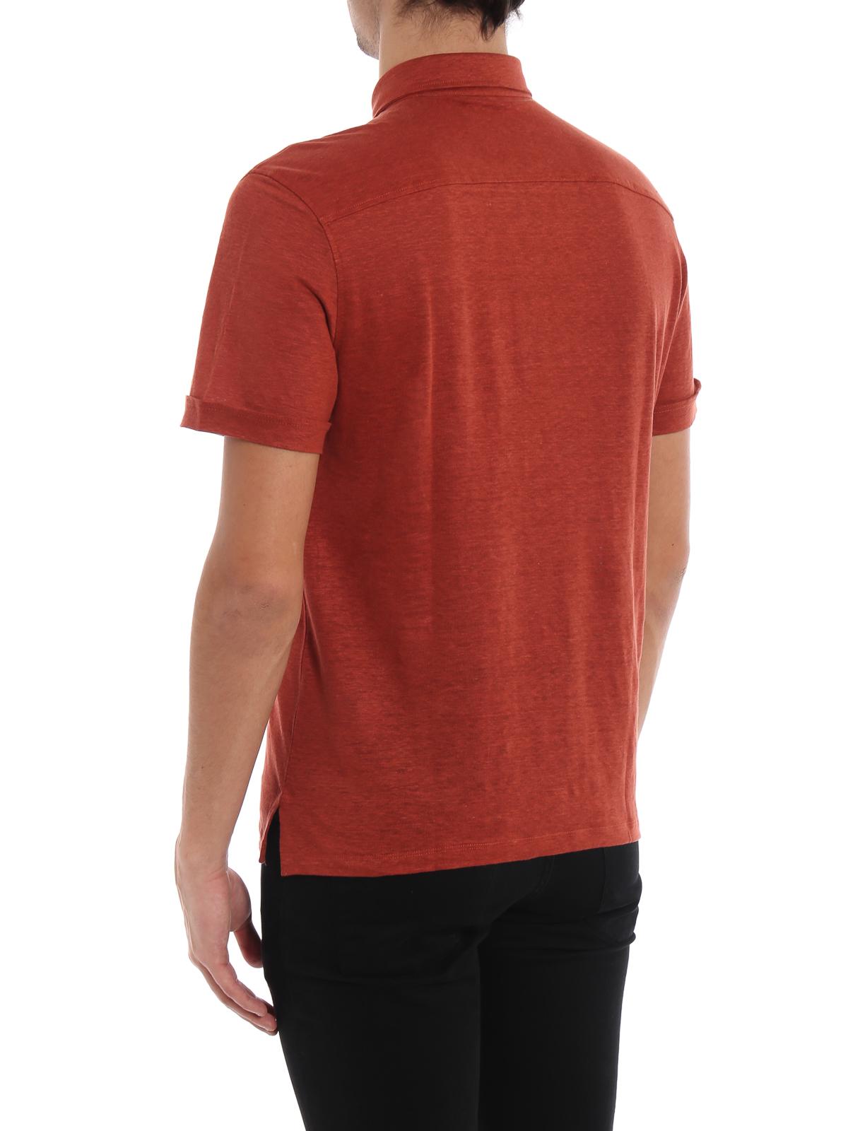 b3385d2f0bdf8 Ermenegildo Zegna - Red linen polo shirt - polo shirts - US564 723 D07