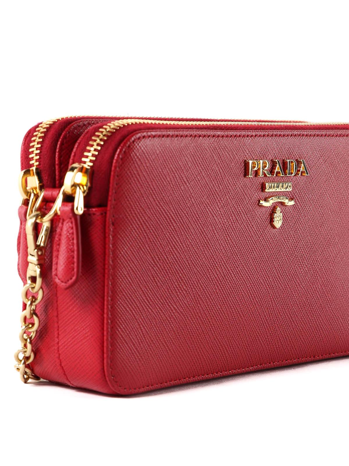 888ba6b0010d11 Prada - Red saffiano camera bag - cross body bags - 1DH010QWA 68Z