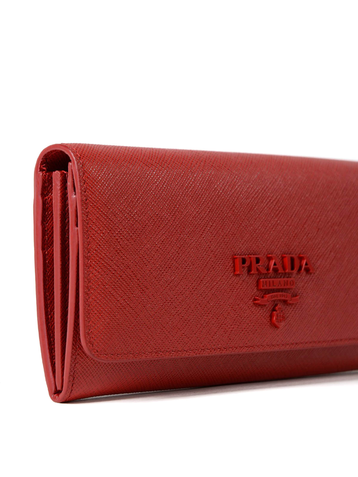 745d14b95cb7 Prada - Red saffiano continental wallet - wallets & purses ...