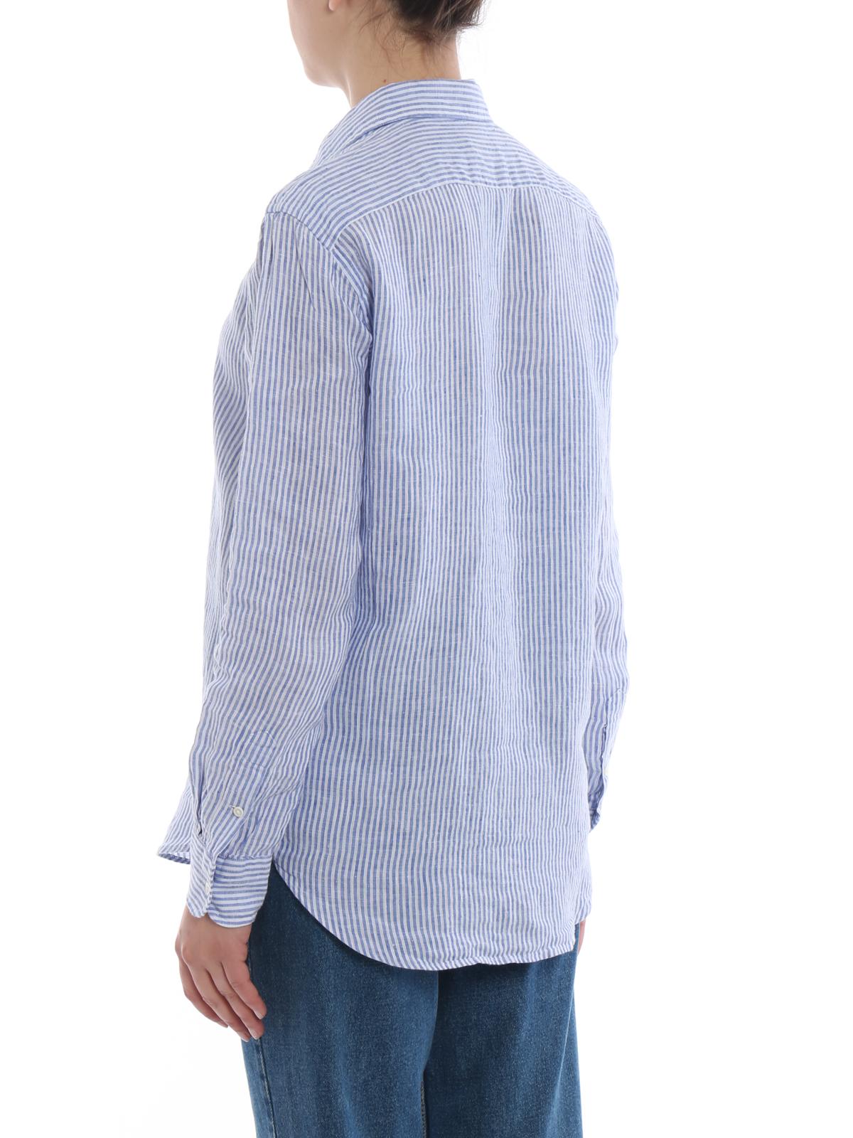 Polo Fit Linen Ralph Shirts Shirt Relaxed Striped Lauren kuOPXiZ