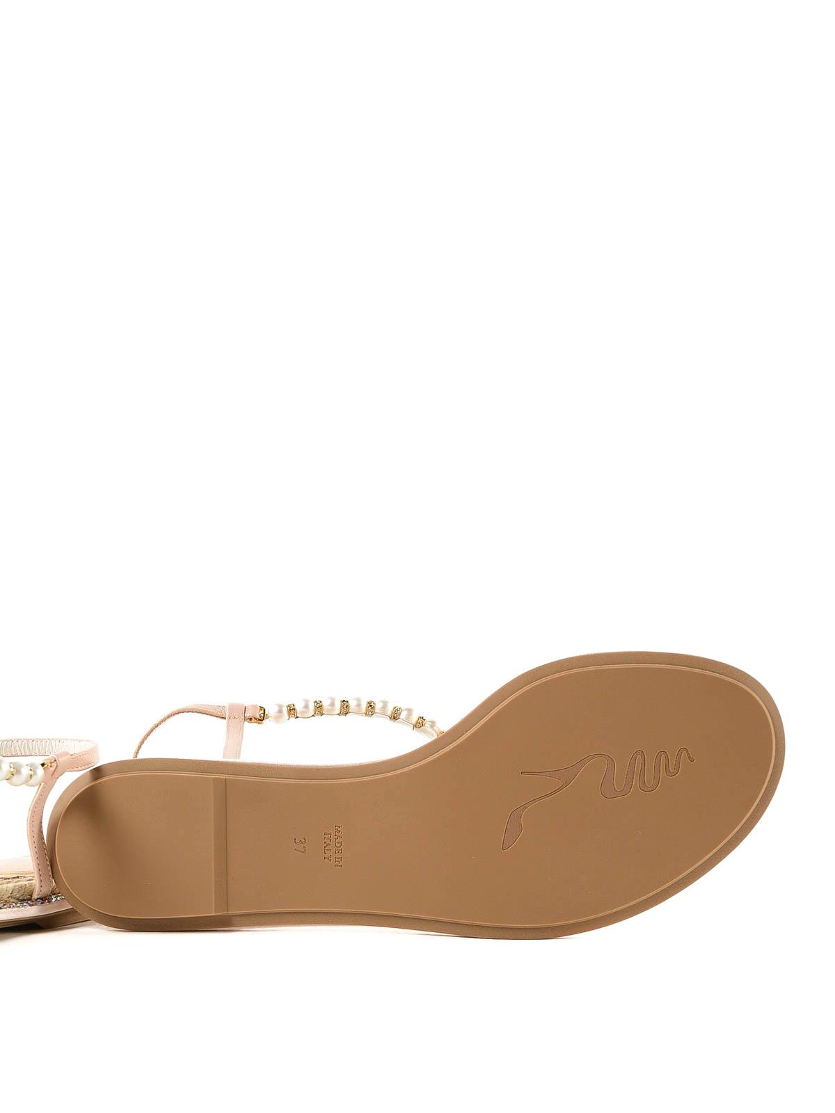 16e58a02ccc RENE CAOVILLA buy online Eliza pearl and crystal thong sandals. RENE  CAOVILLA  flip flops ...