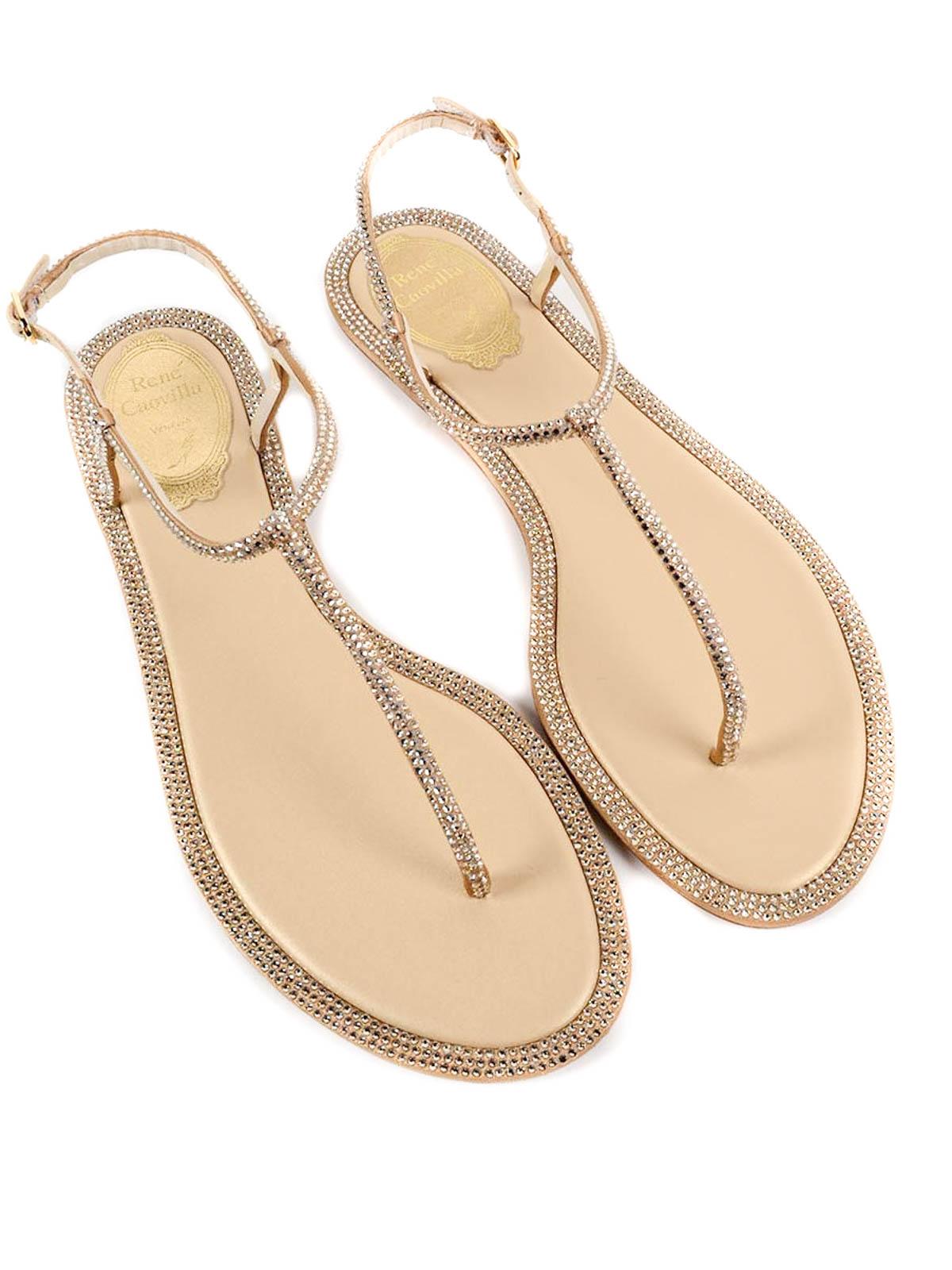 Rene Caovilla - Mini studs flat sandals