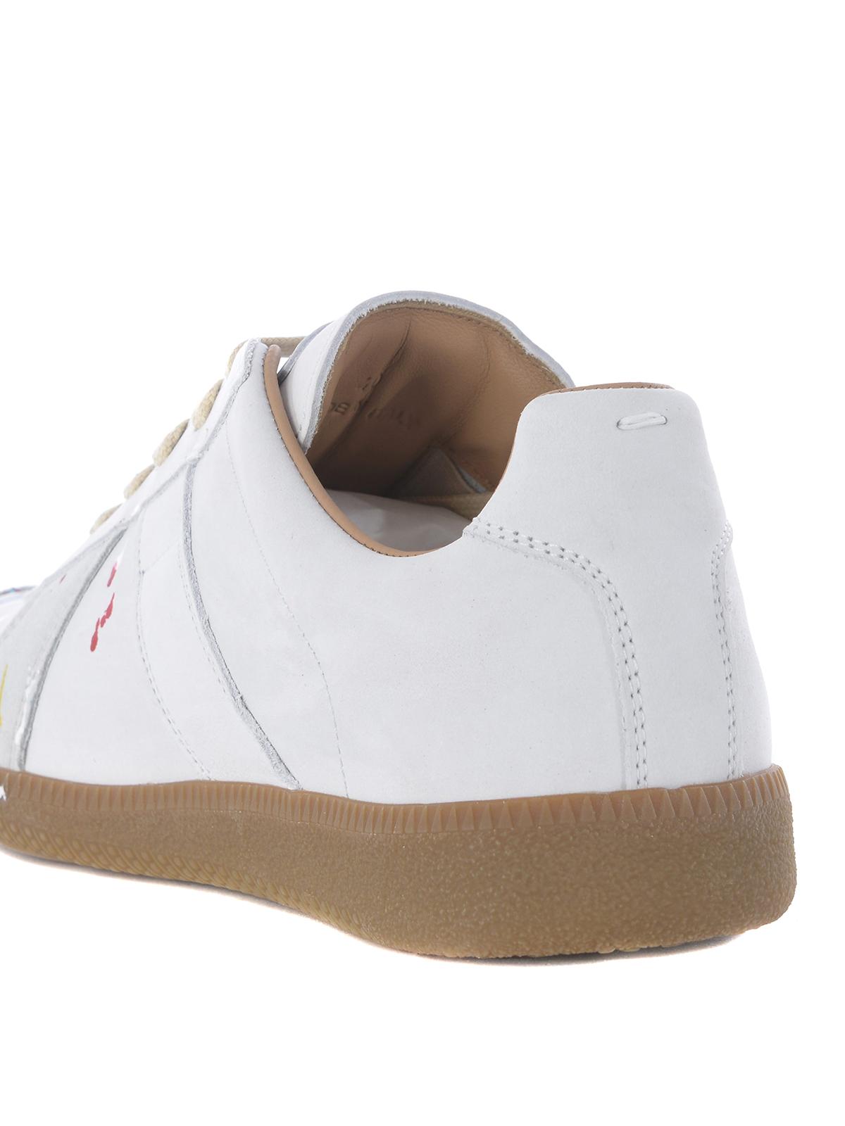 c5e277e5dd0 Maison Margiela - Replica varnish spot nubuck sneakers - trainers ...