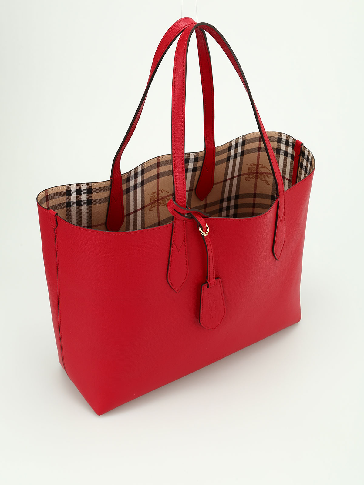 Reverse Double Face Leather Tote Online Burberry