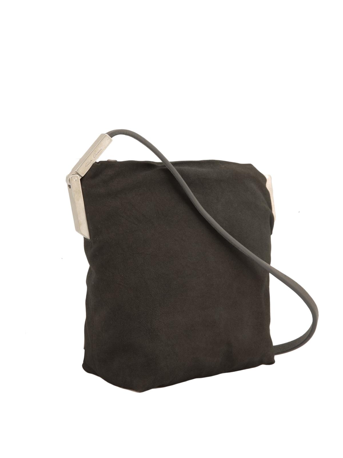 RICK OWENS HUN  borse a tracolla online - Borsa a tracolla in camoscio 5b00ed10540
