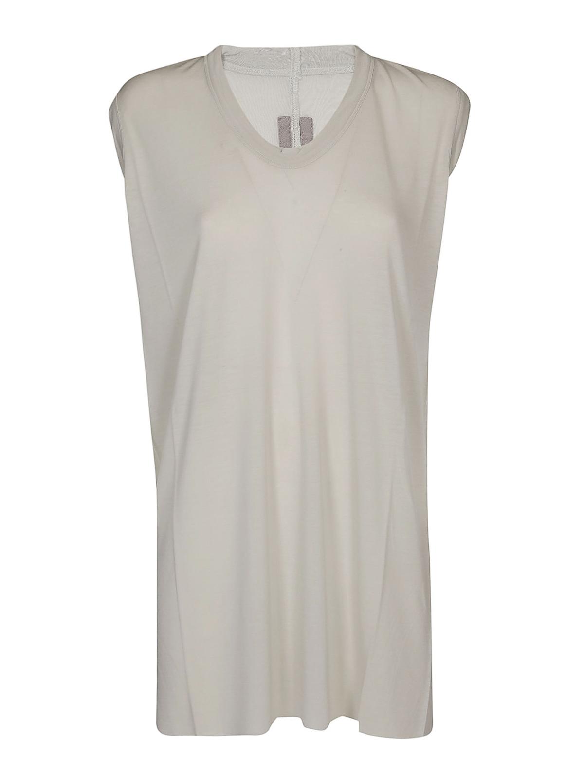 9bbbde8580 Rick Owens - V-neck white silk blend top - Tops & Tank tops ...