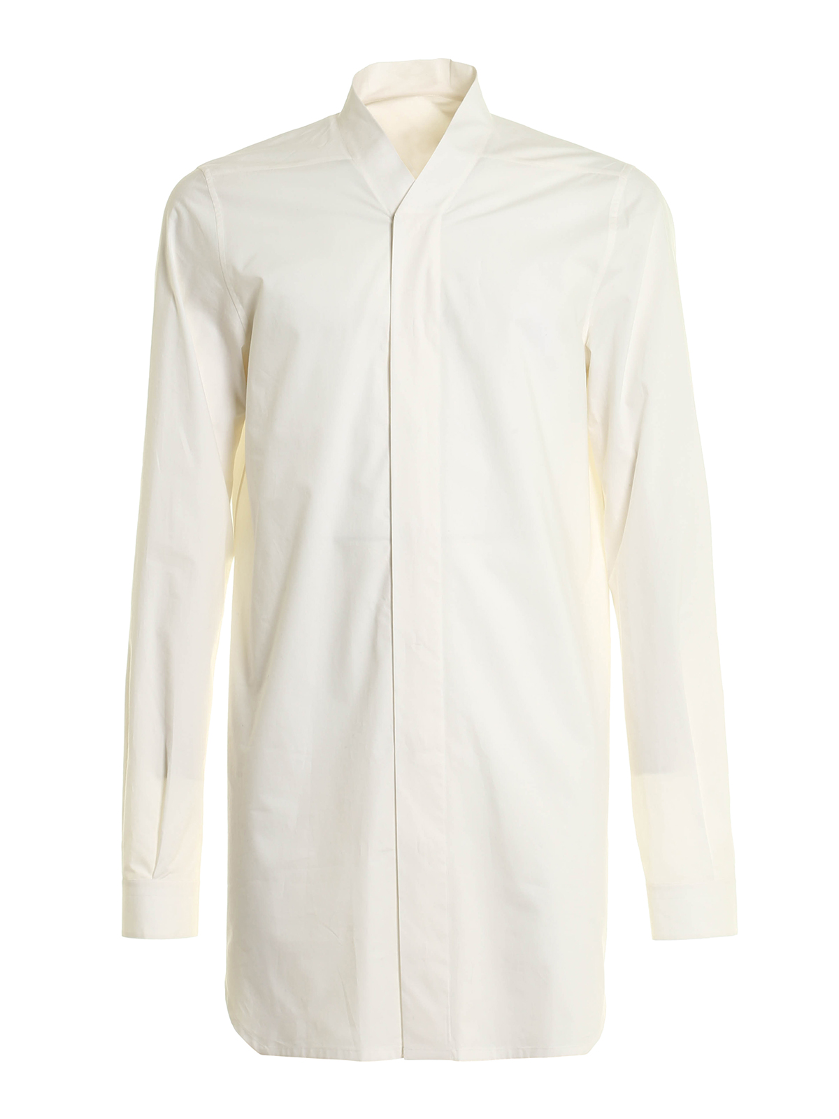 Cotton poplin long shirt by rick owens shirts ikrix for What is a poplin shirt