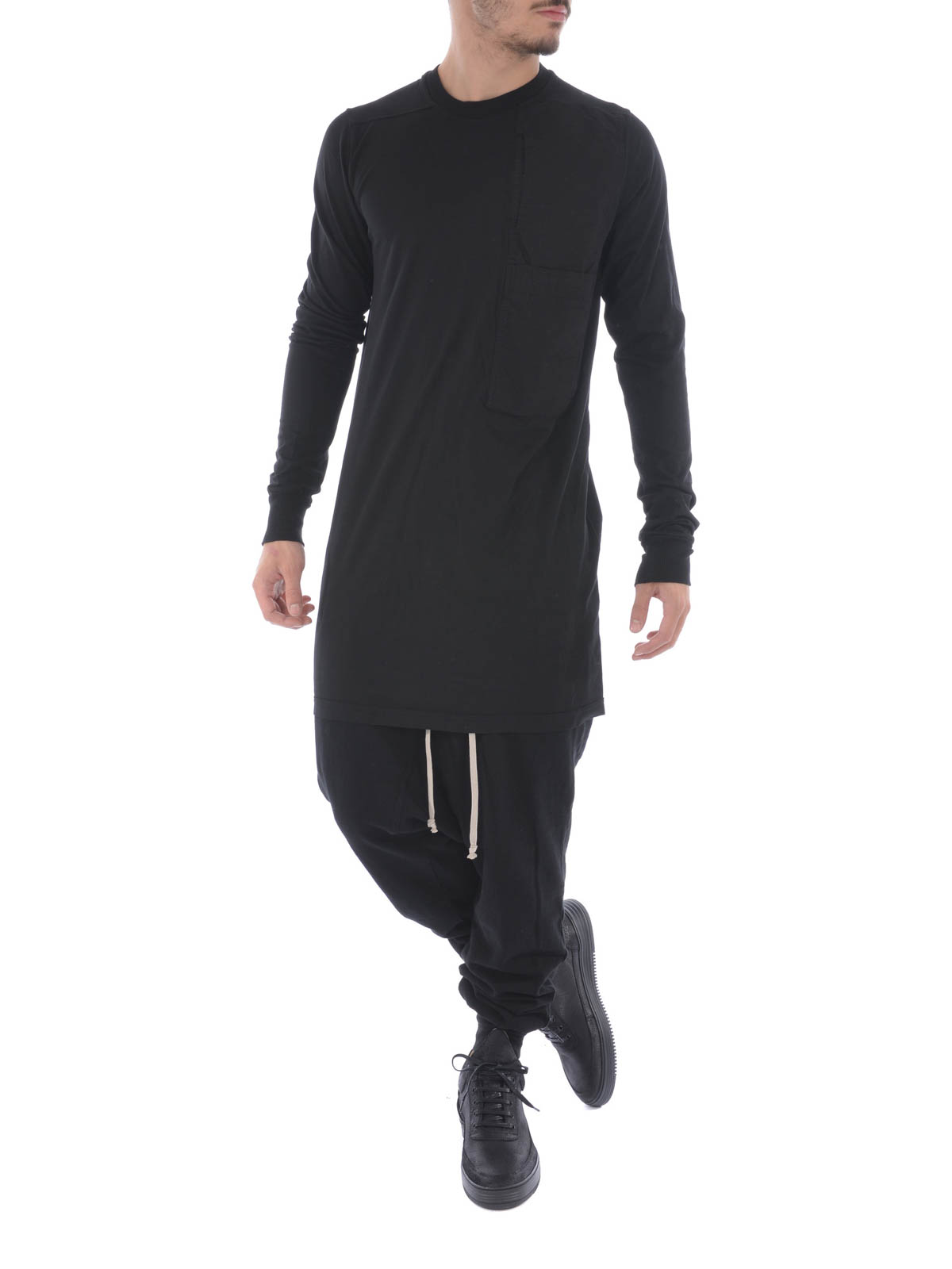 OVERSIZE COTTON SWEATER WITH POCKET by Rick Owens - Sweatshirts ...