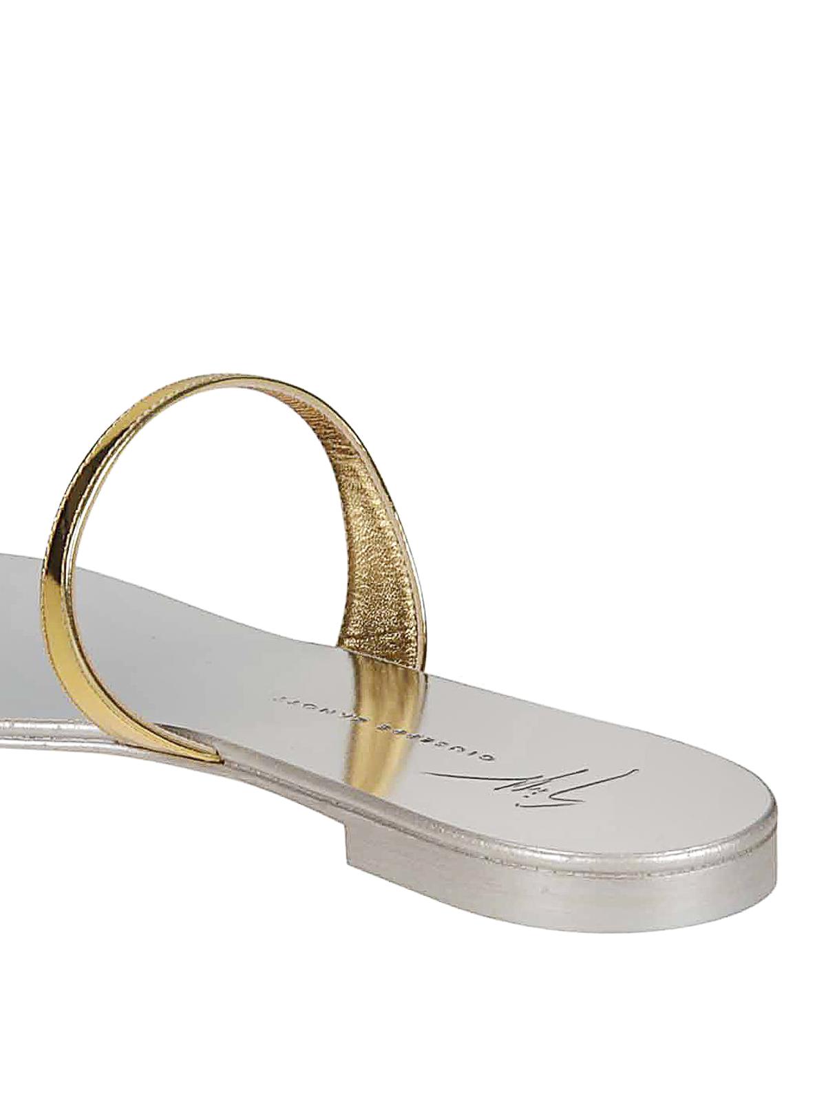 9012c3c9c8d6e Giuseppe Zanotti - Ring jewel gold flat sandals - sandals - I700000010