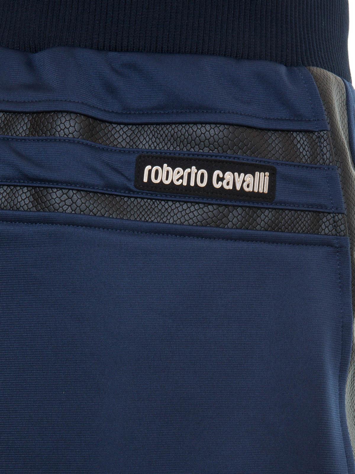 a9ec6c6c0285 Roberto Cavalli - Pantalon De Survêtement Bleu - Pantalons de ...