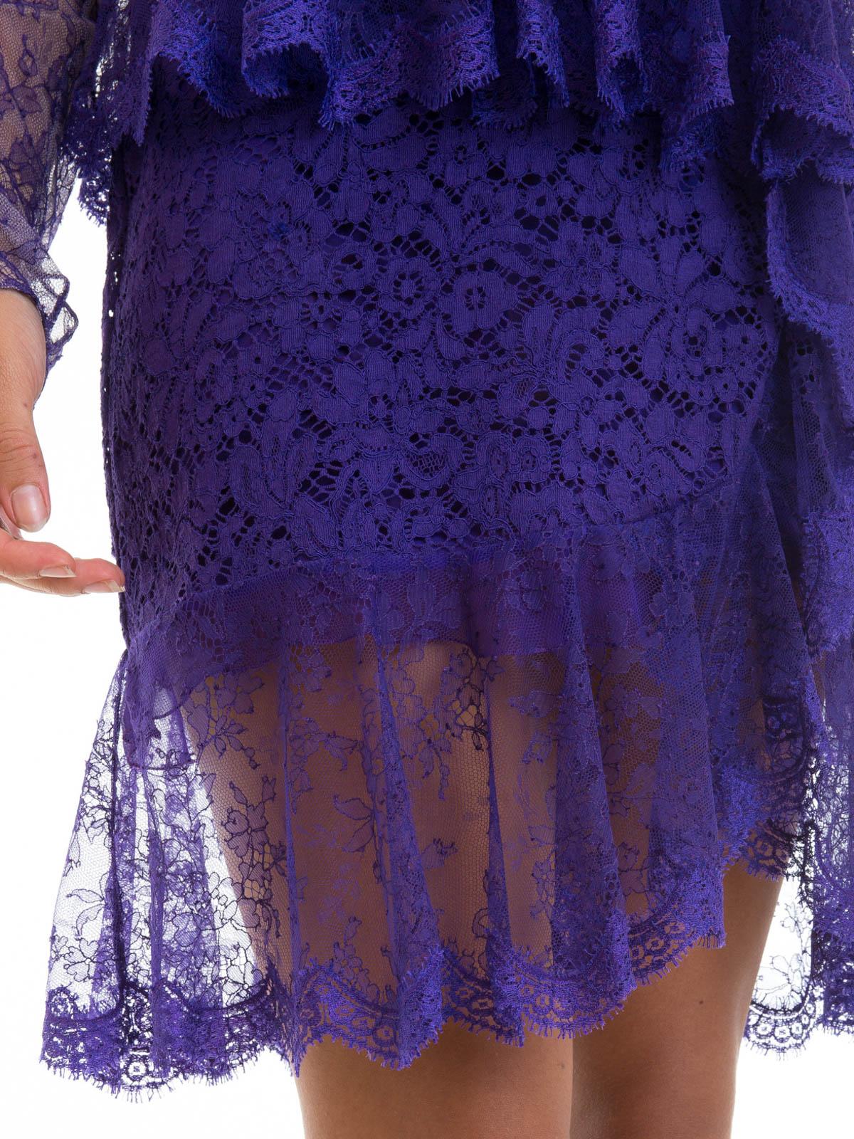 Vestido De Cóctel Púrpura de Roberto Cavalli - Vestidos de cóctel ...