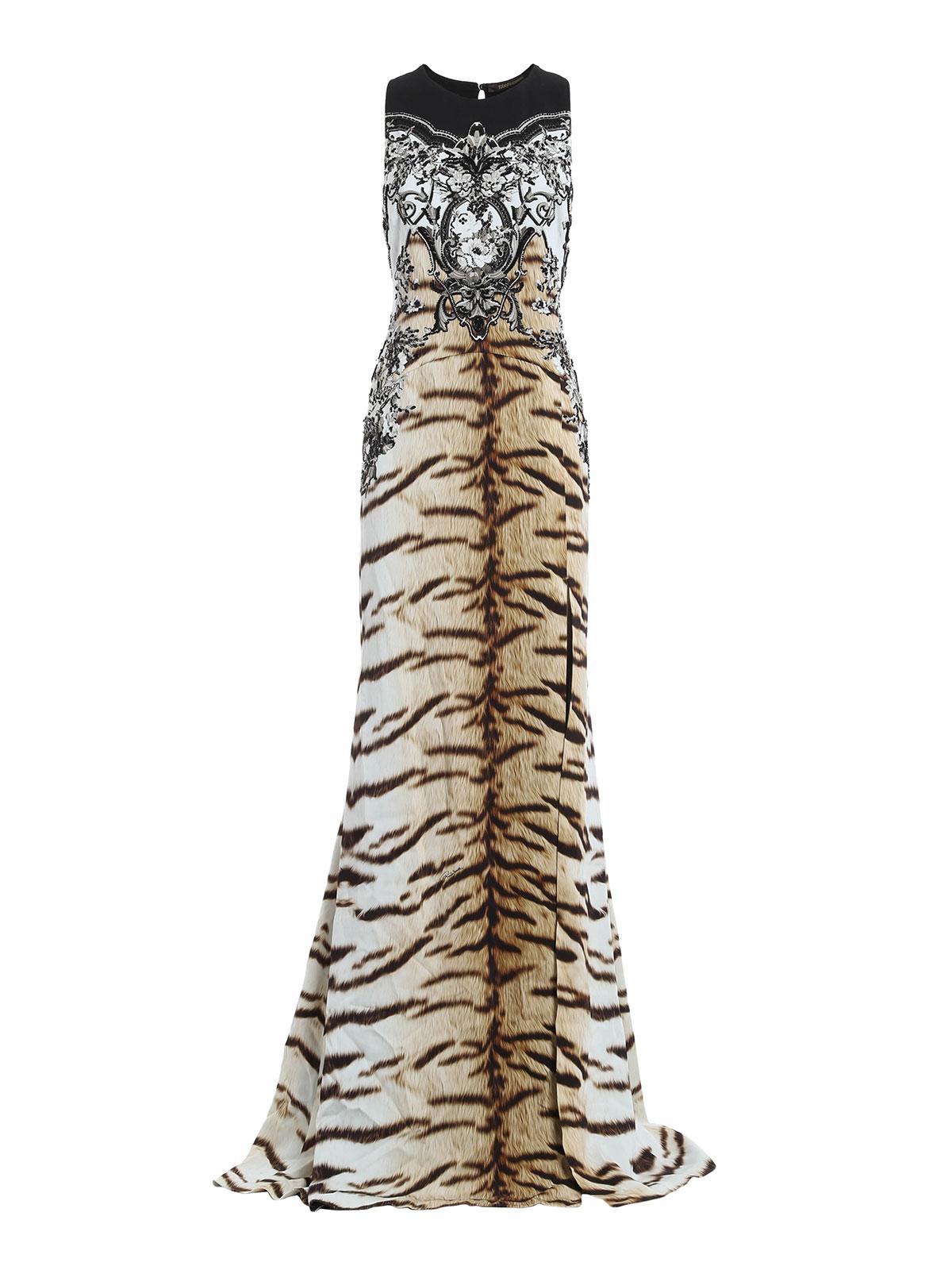 Abiti Da Sera Just Cavalli.Roberto Cavalli Fantasy Print Maxi Dress Evening Dresses