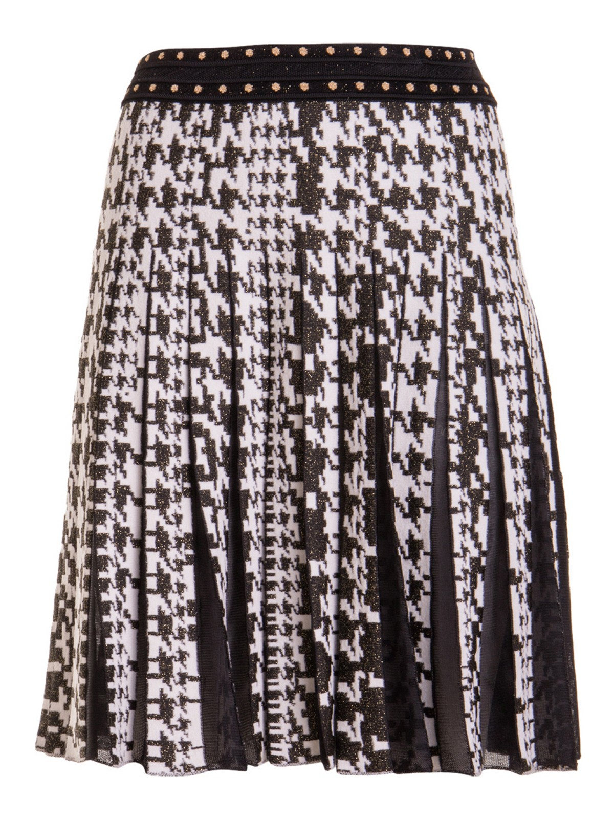 Roberto Cavalli HOUNDSTOOTH KNITTED SKIRT