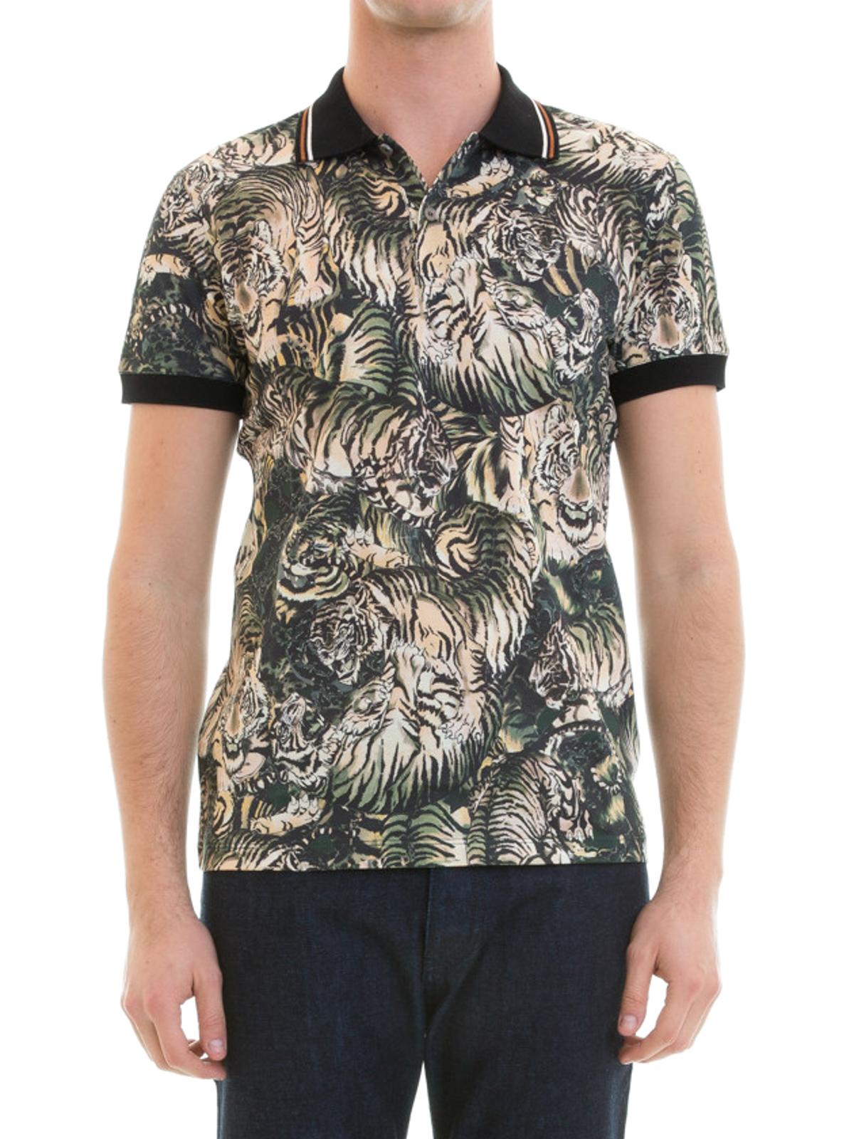 4876afb9 Roberto Cavalli - Tiger print pique polo - polo shirts - EN706C2440S239