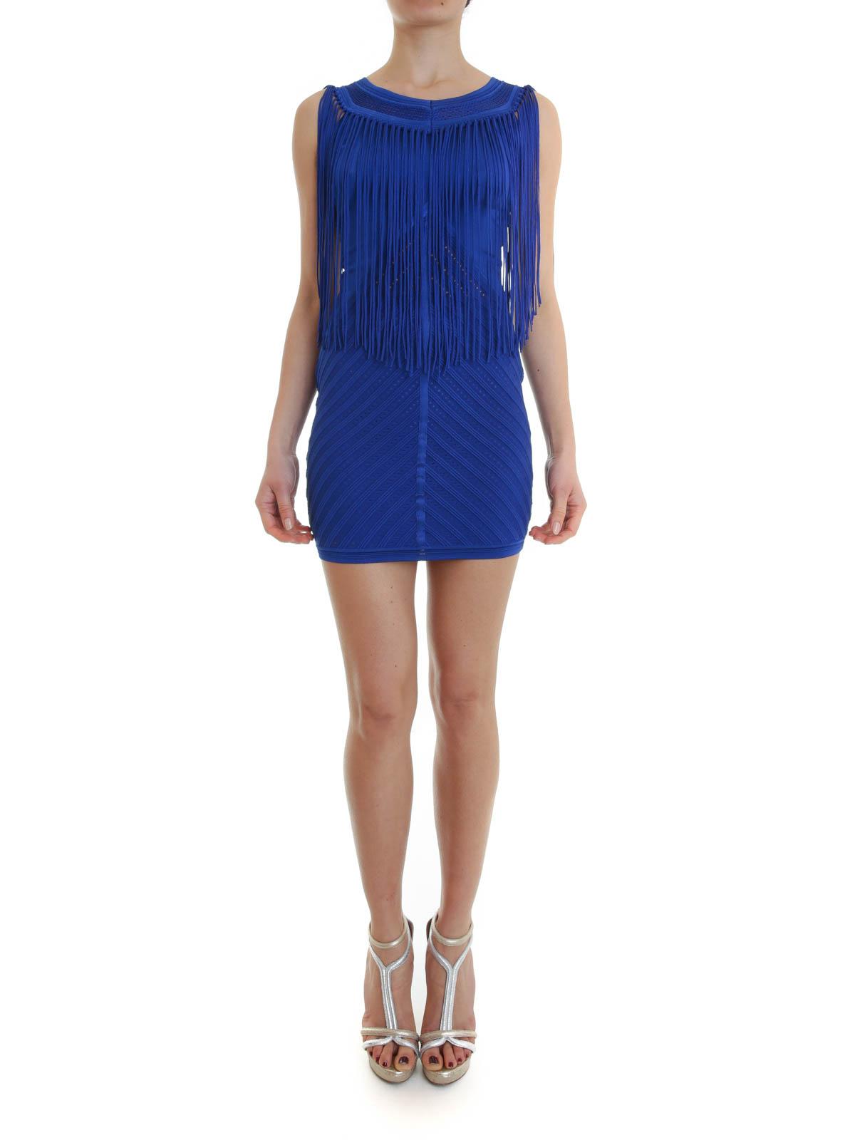 Roberto Cavalli Short Dresses Online Fringed Dress
