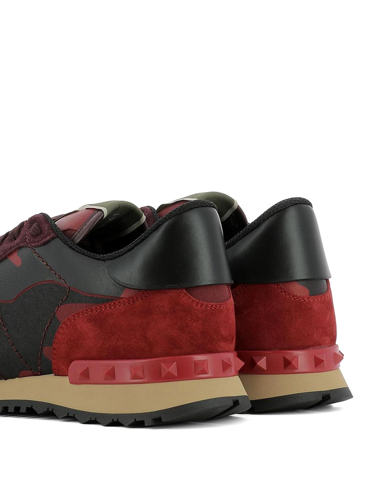 ed40c76a0e94f Trainers Rockrunner Dark Valentino Garavani Red Sneakers nSUZOOPq8W