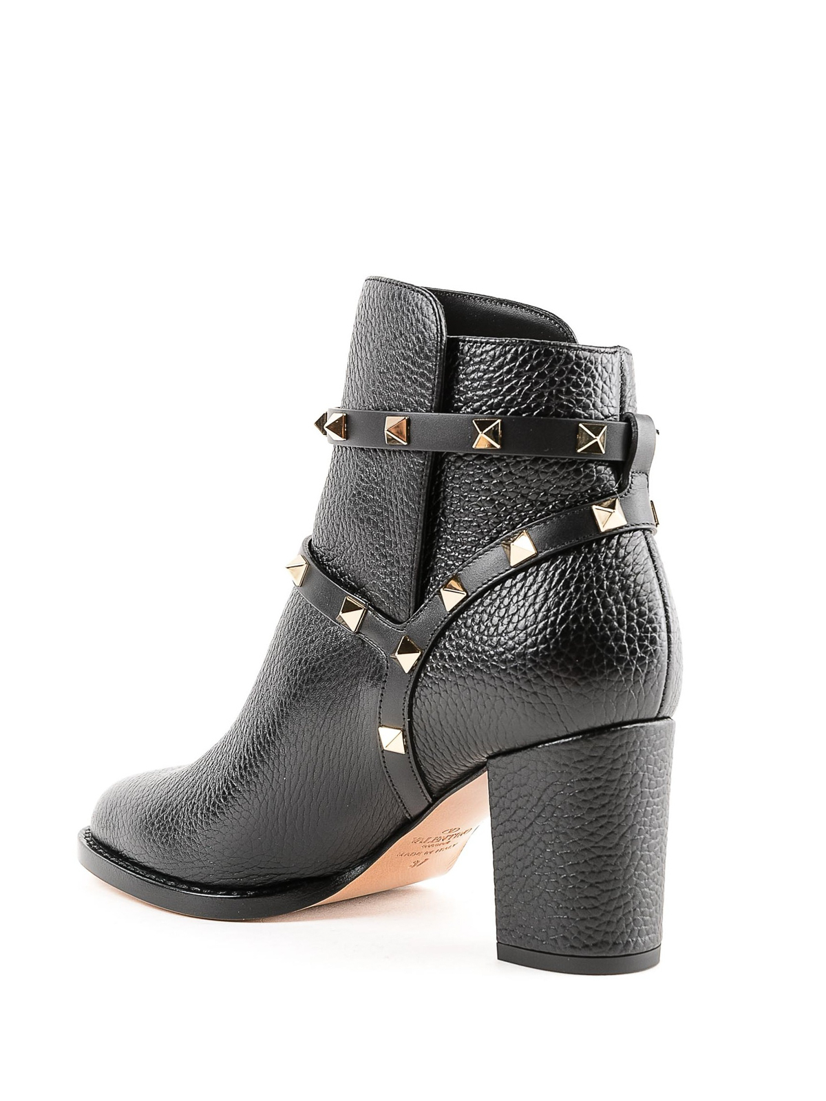 2ad6bca5d7c9 Valentino Garavani - Rockstud leather ankle boots - ankle boots ...