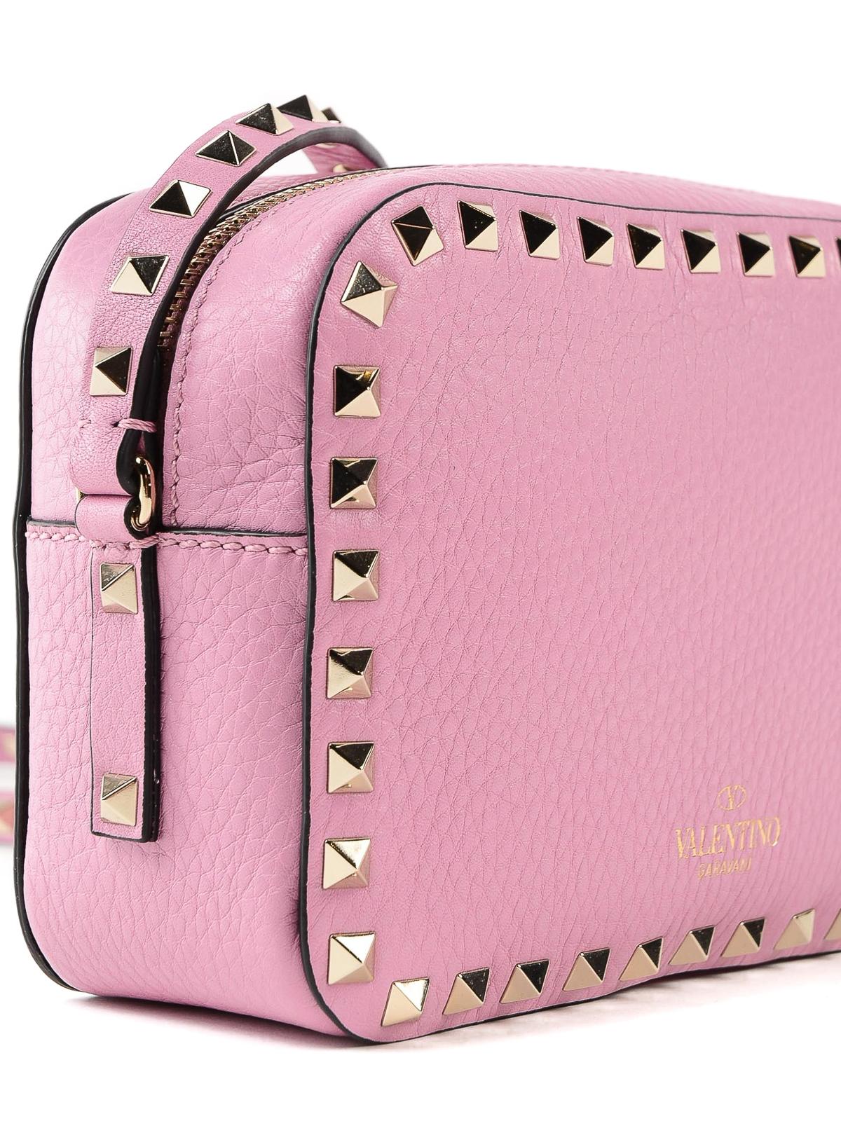 c9facbfc69 Valentino Garavani - Rockstud pink leather camera bag - shoulder ...