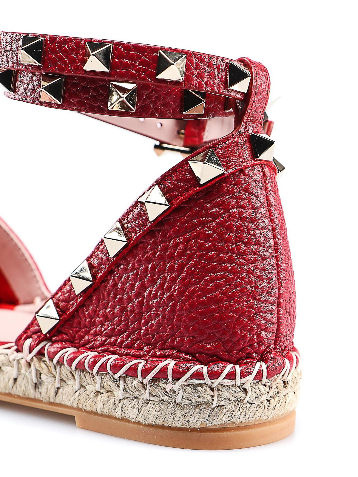 a9270e3ed Valentino Garavani - Rockstud red leather espadrilles - espadrilles ...