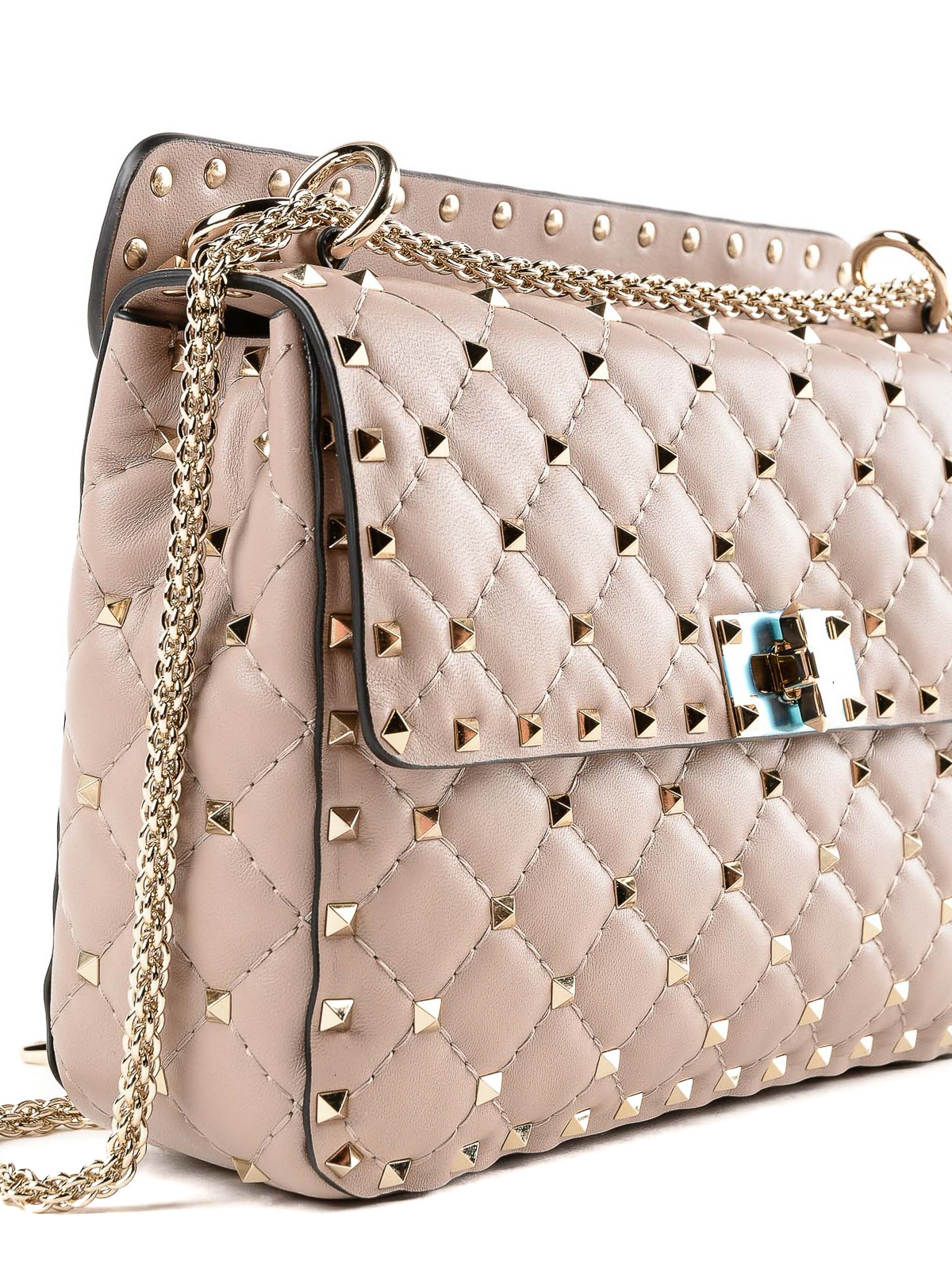 2b874b1088 Valentino Garavani - Rockstud Spike poudre medium bag - shoulder ...