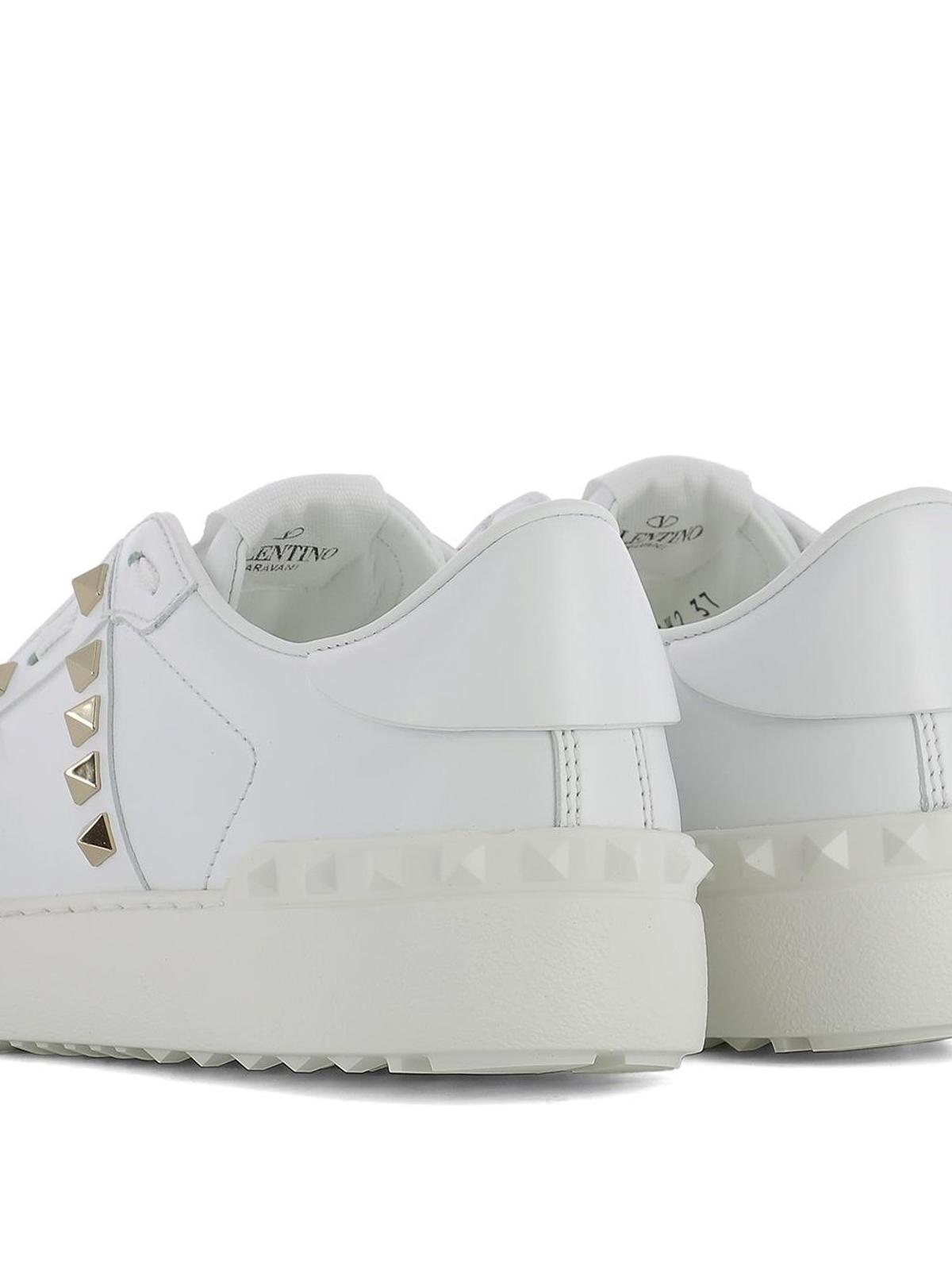 6b9ab6f79698a Valentino Garavani - Rockstud Untitled white sneakers - trainers ...