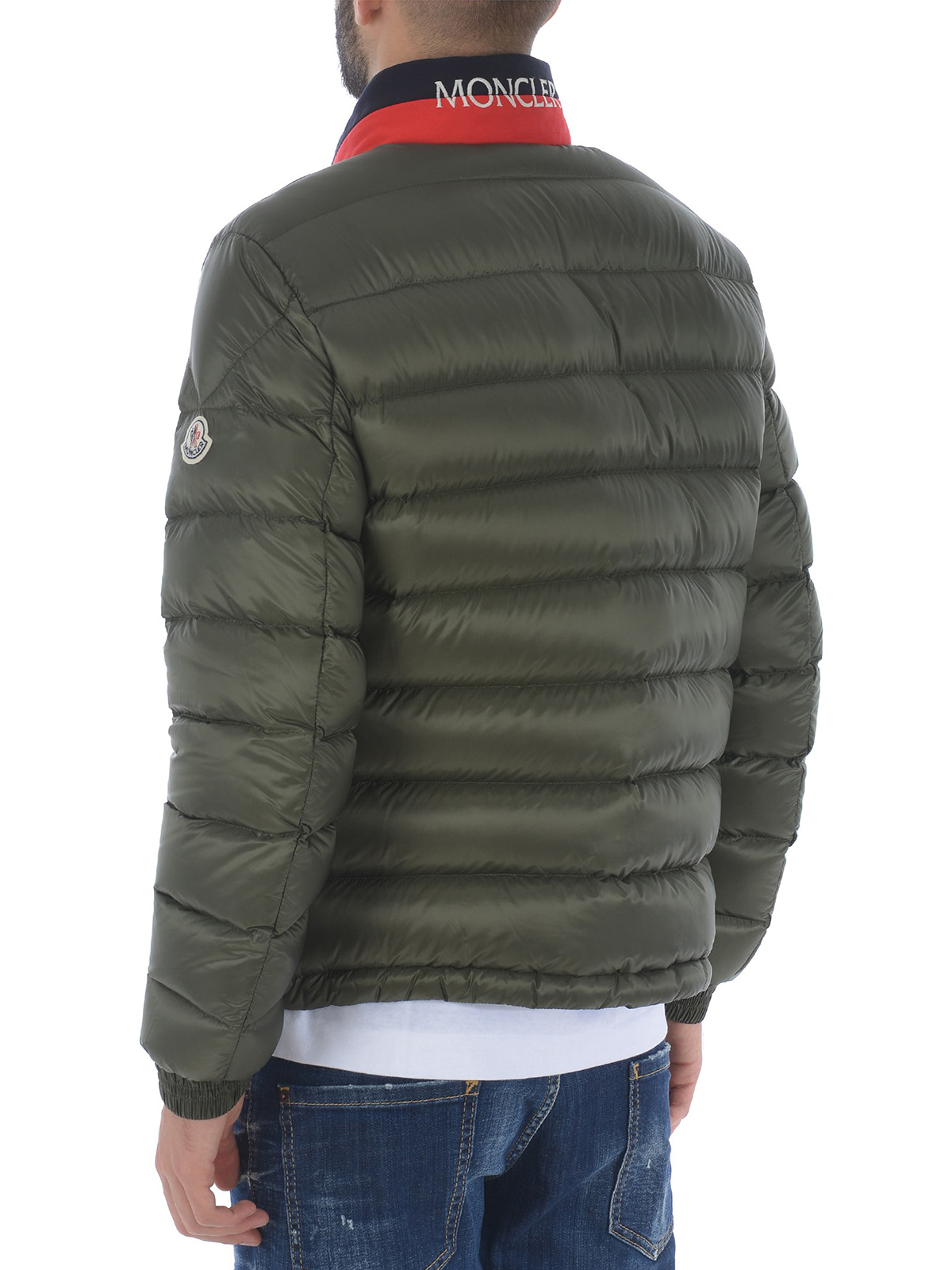 a875d8da854 Moncler - Rodez green down jacket with hidden hood - padded jackets ...