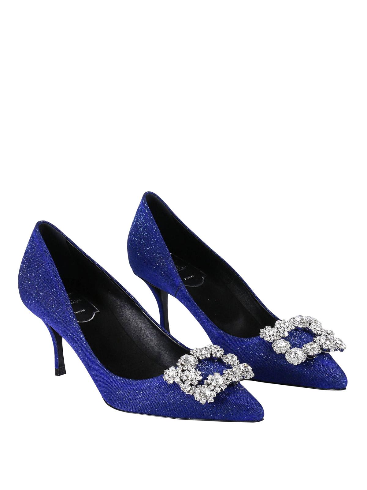 Roger Vivier - Flower Strass blue lurex