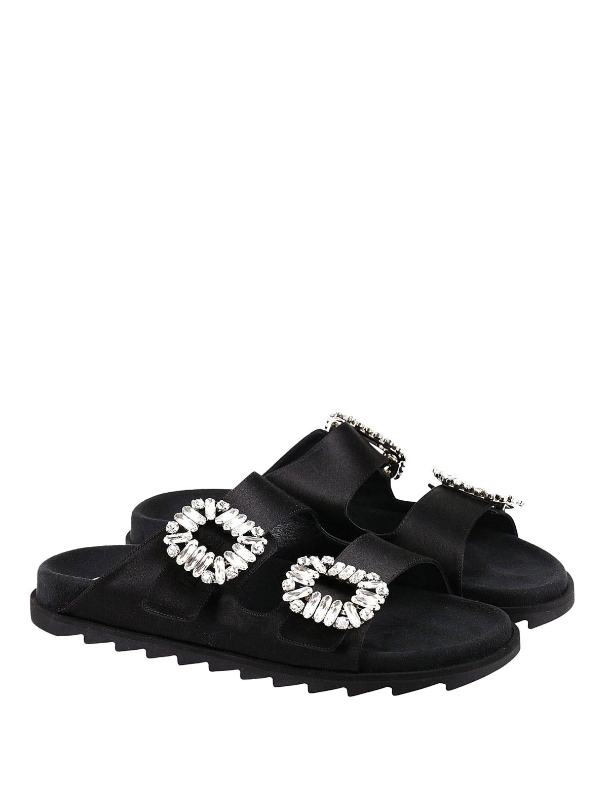 6f55c2c1793b Roger Vivier - Viv  satin double buckle slides - sandals ...