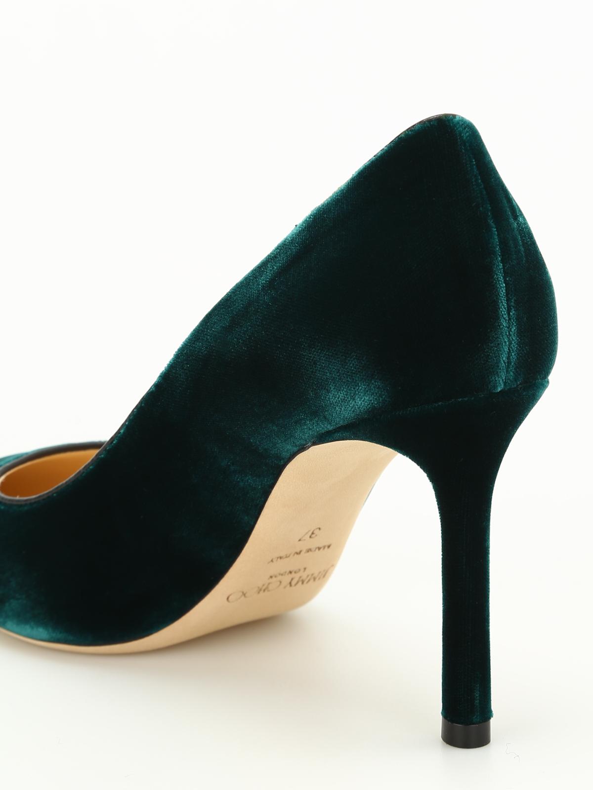 615fbd9eab9 Jimmy Choo - Romy 85 velvet pumps - court shoes - ROMY 85 VEL BOTTLE ...