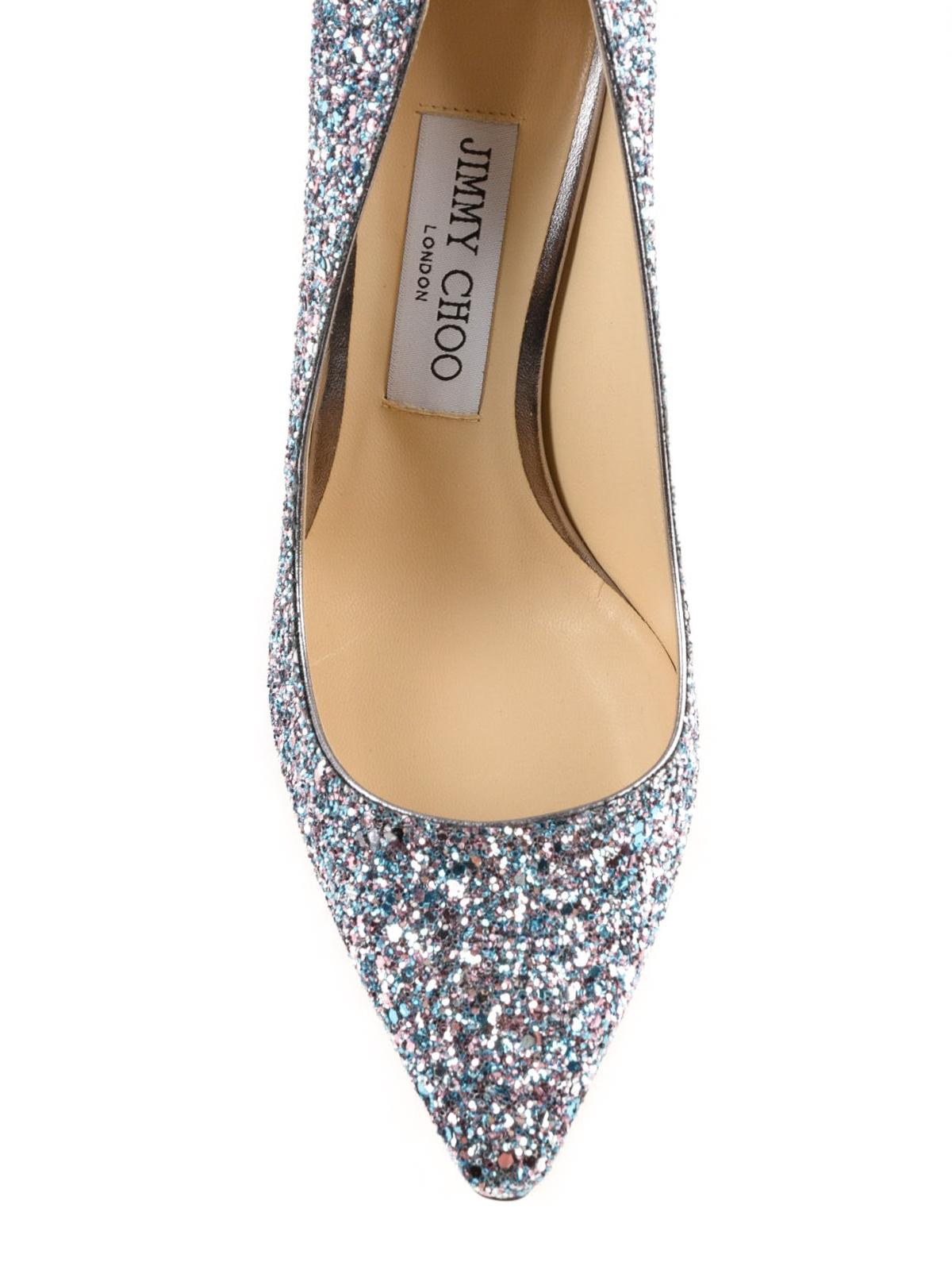 dcbde6ee89e5 Jimmy Choo - Romy coarse glitzy glitter pumps - court shoes - ROMY ...