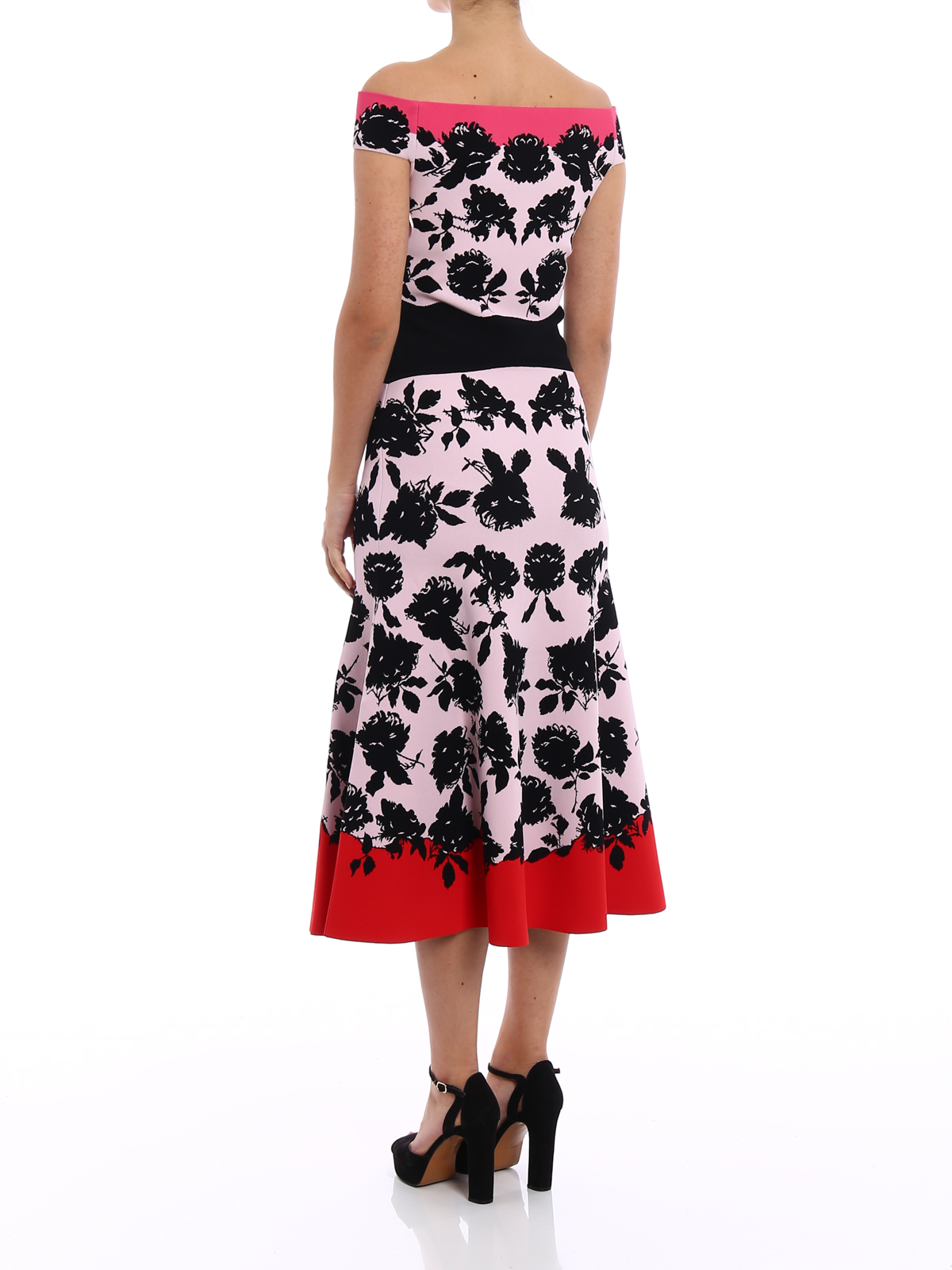 jacquard dress - Multicolour Alexander McQueen Outlet Best Outlet Ebay Factory Outlet Cheap Online GkuUikfK