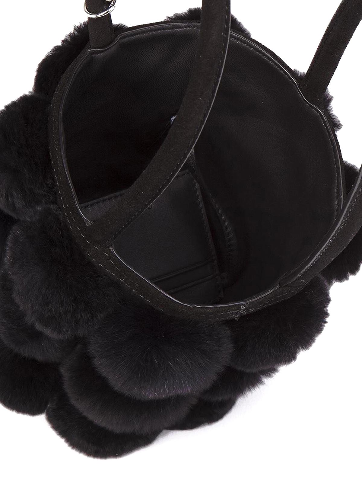 51e6a059a53b Alexander Wang - Roxy fur mini bucket bag - Bucket bags - 2048C0293F 001