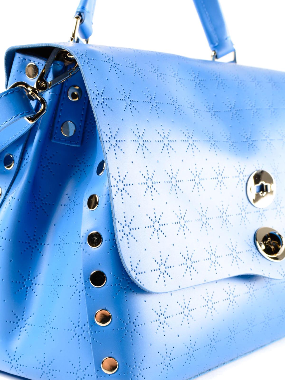 Zanellato Royal blue Astro Postina medium bag qbn5AUF