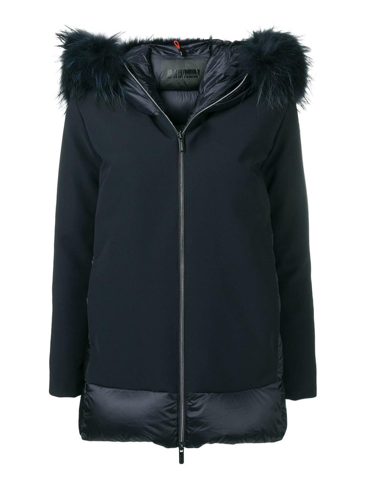 Winter Fur Rrd Hybrid Rembourrees Bleu Lady Zar Vestes dOW1W7qP