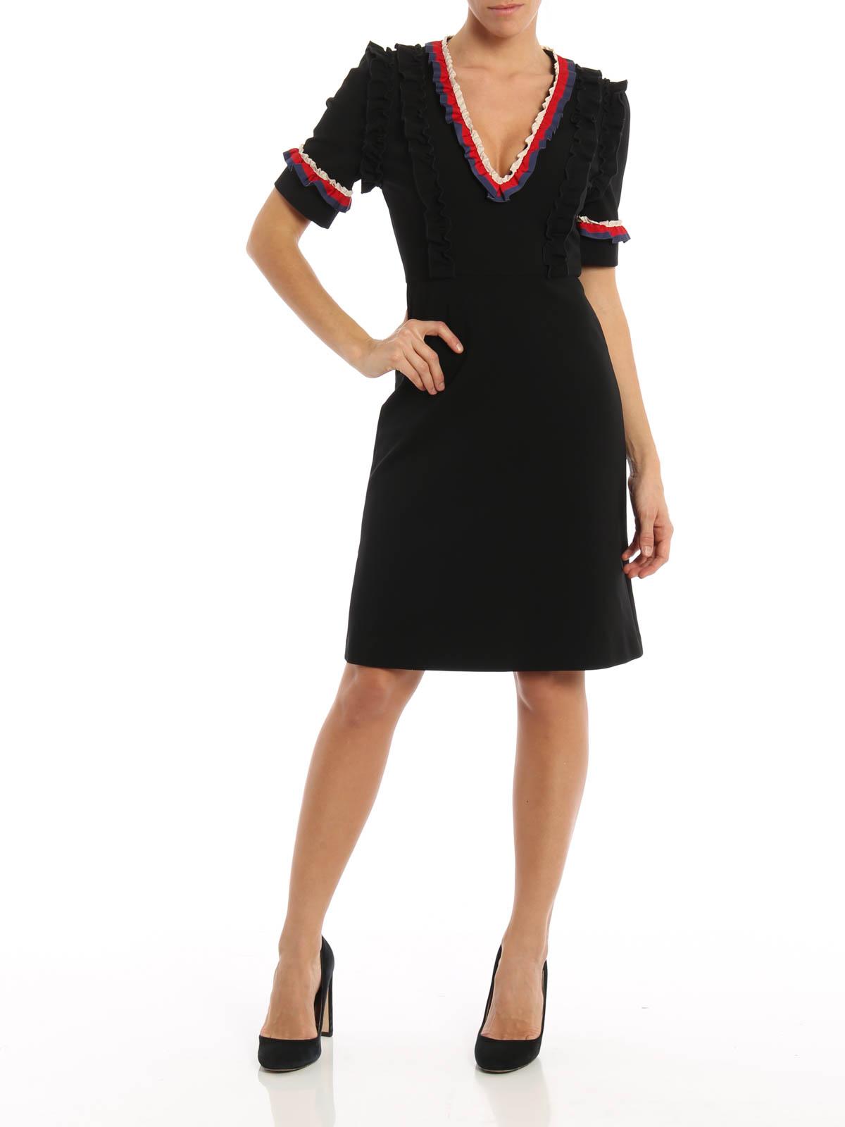 Gucci Ruffle Detail Short Dress Short Dresses 457070