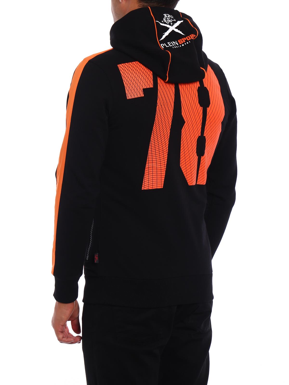 run hooded sweat jacket by philipp plein sweatshirts sweaters shop online at. Black Bedroom Furniture Sets. Home Design Ideas