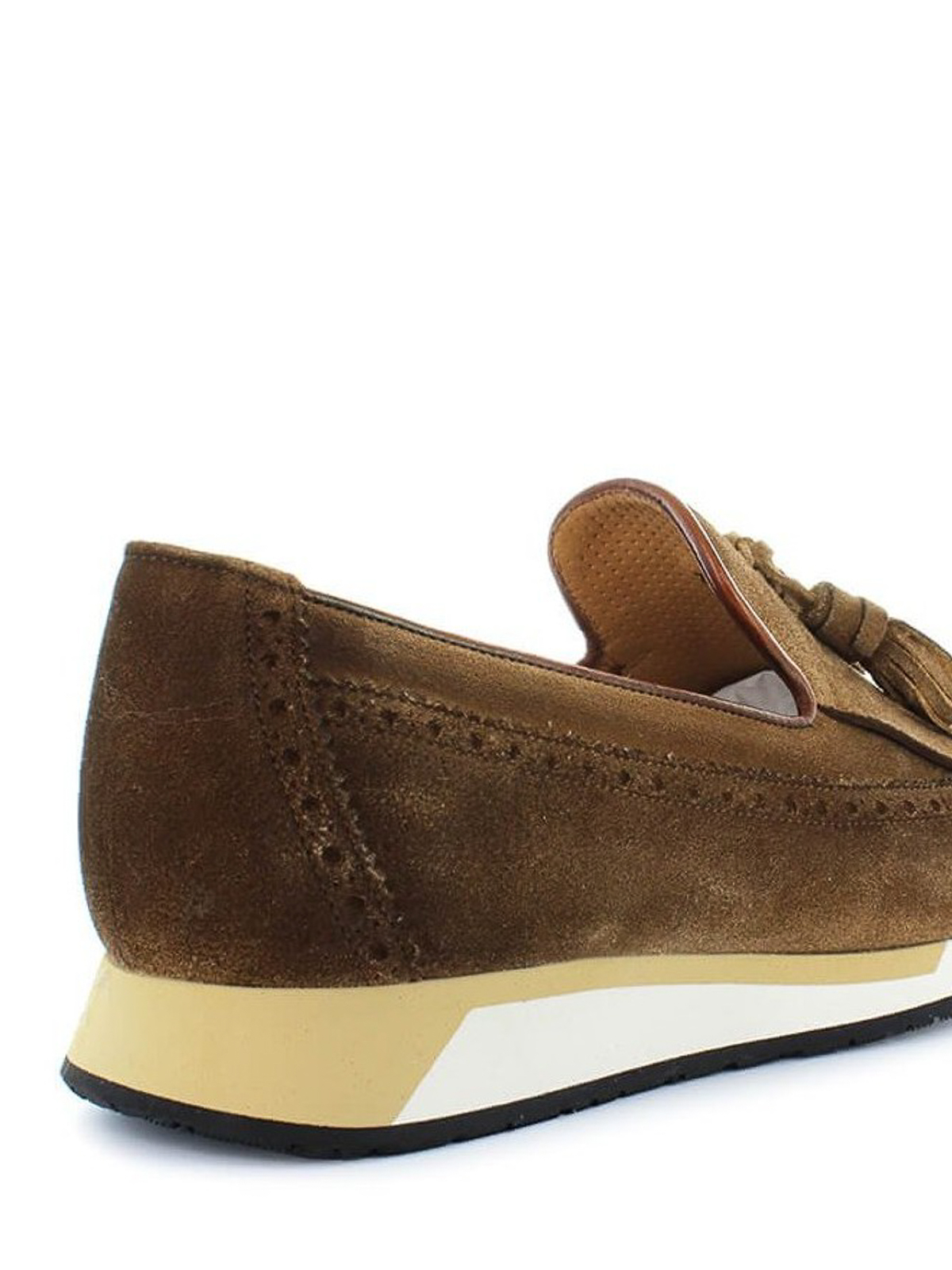 b714643d45a Santoni - Running sole suede loafers - Loafers & Slippers ...