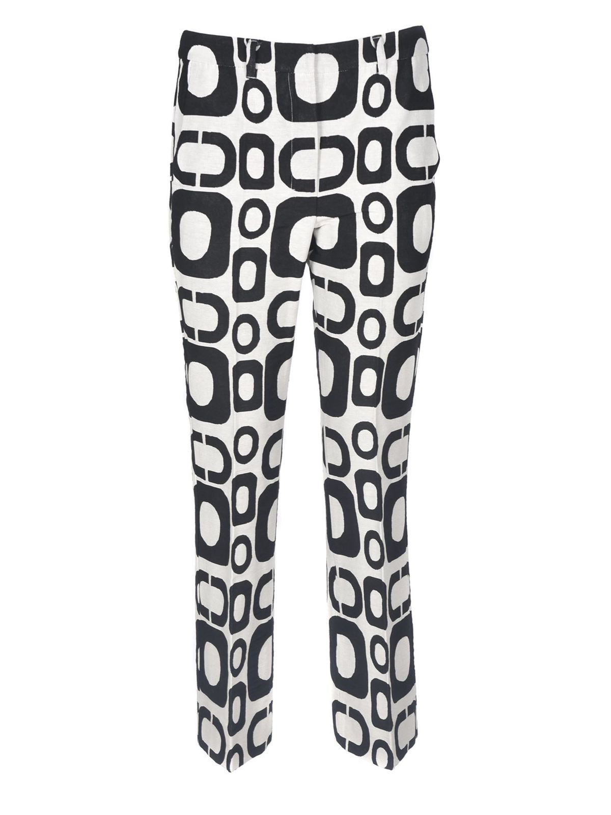 Max Mara Cottons RIVOLO TROUSERS IN BLACK AND WHITE
