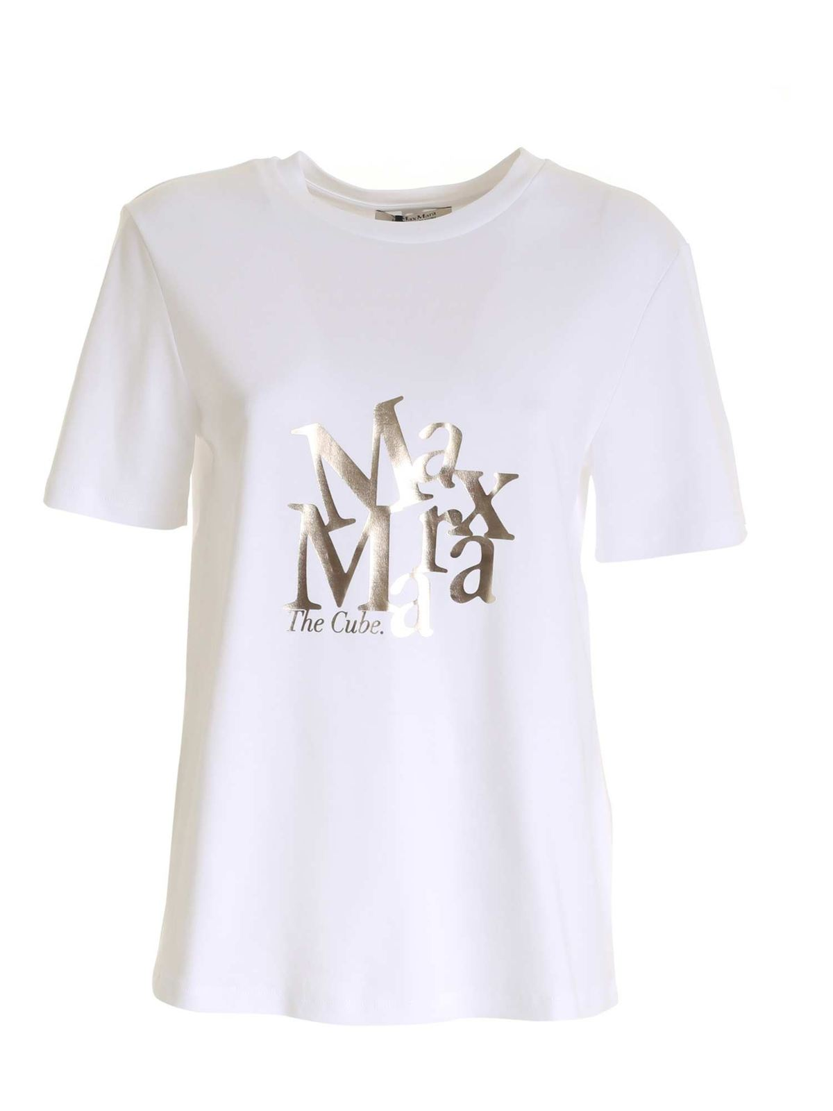 Max Mara SALETTA T-SHIRT IN WHITE